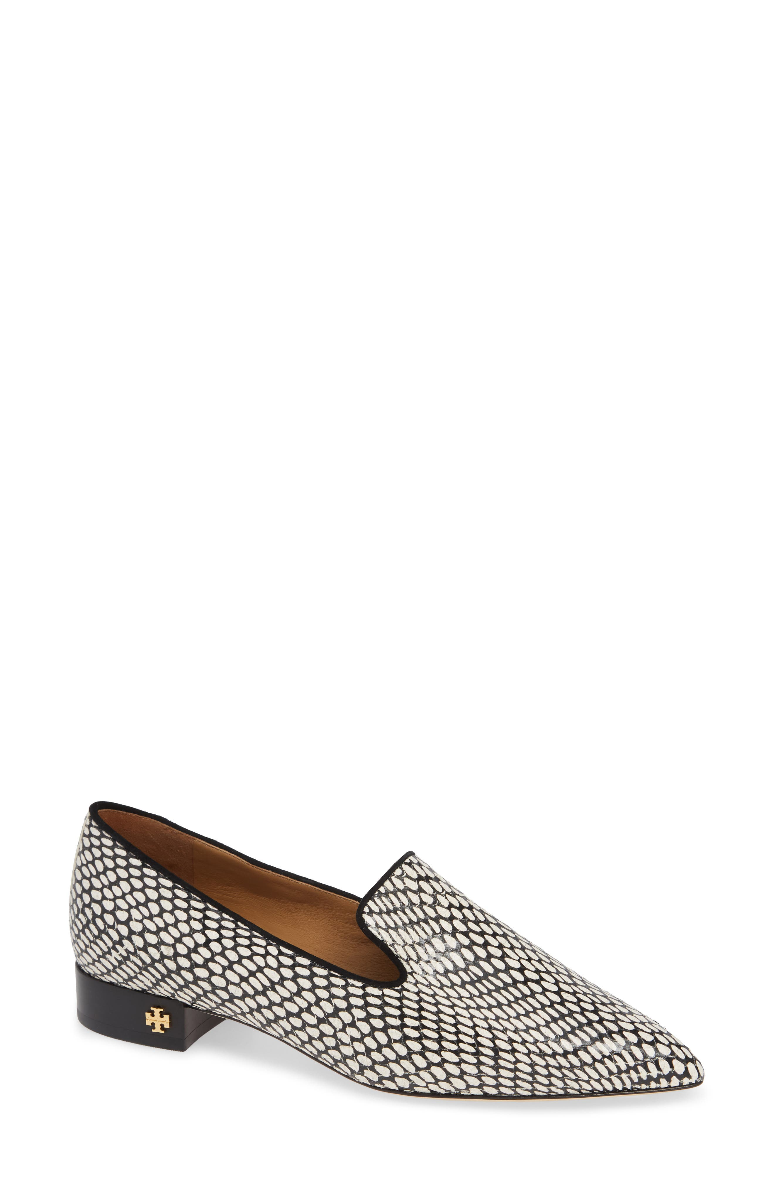 Tory Burch Pascal Pointy Toe Loafer, White