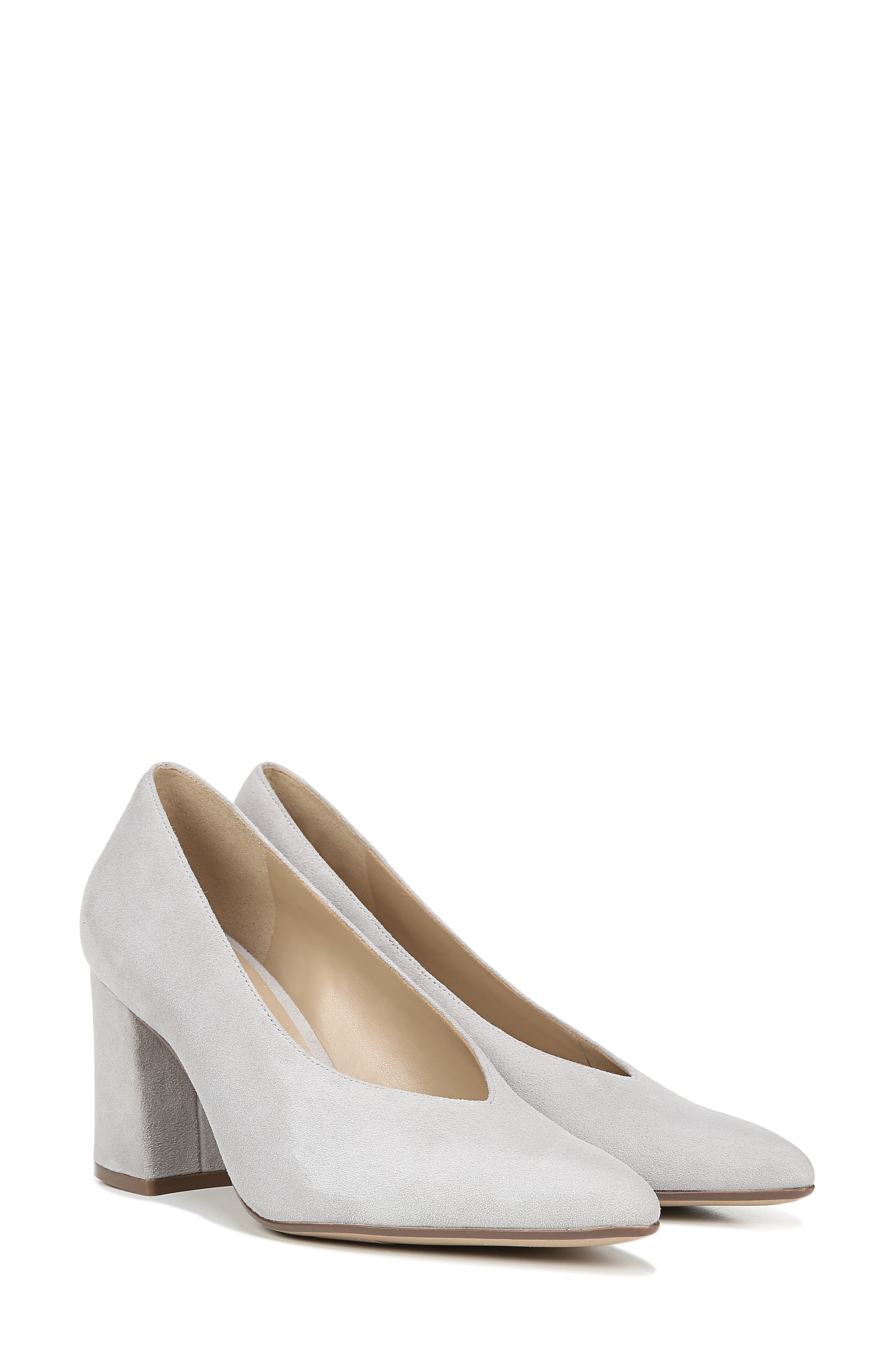 NATURALIZER, Hope Pointy Toe Pump, Alternate thumbnail 9, color, ICY GREY SUEDE