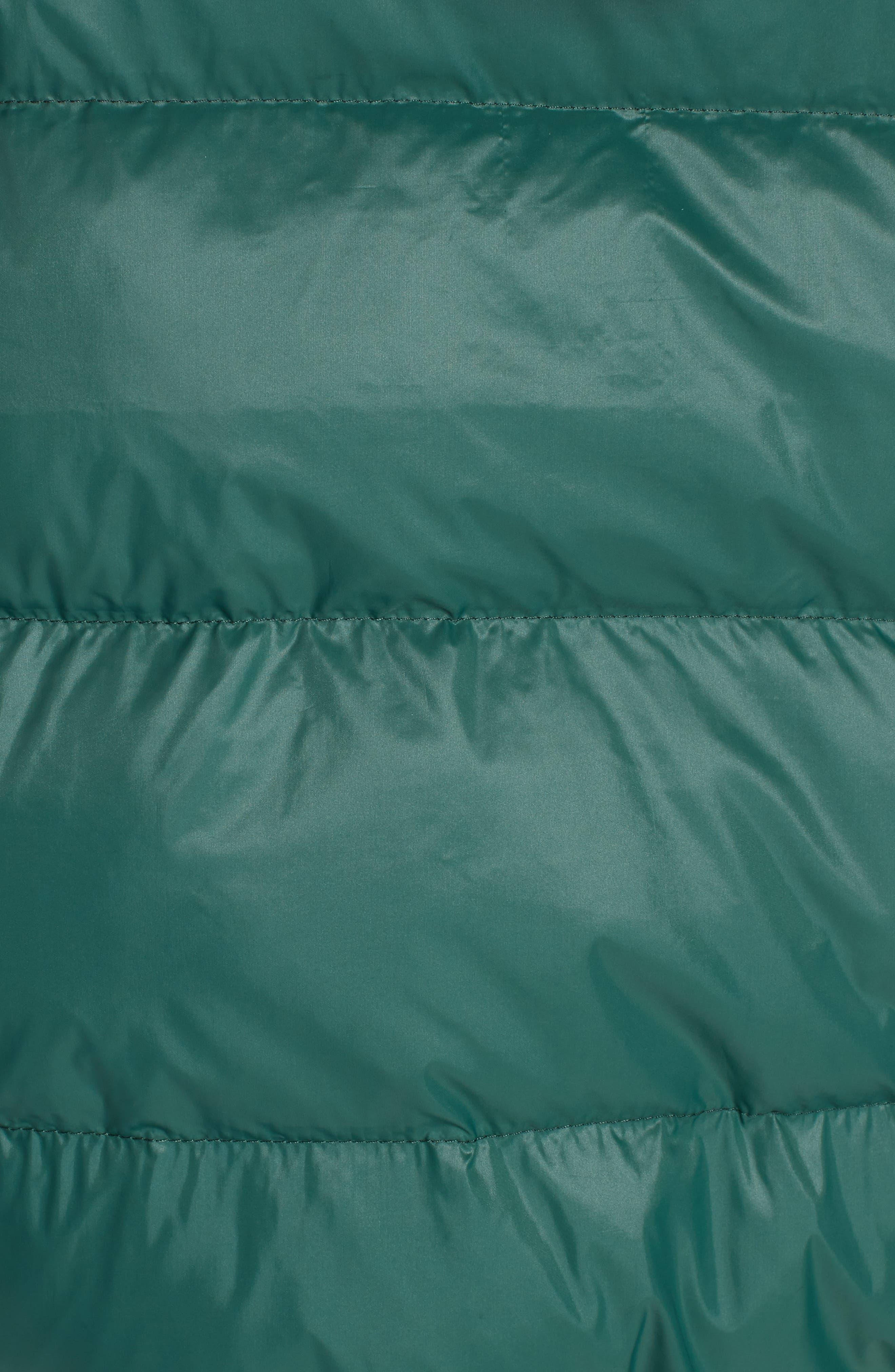 PROENZA SCHOULER, PSWL Reversible Puffer Coat, Alternate thumbnail 8, color, GREEN/ BLACK