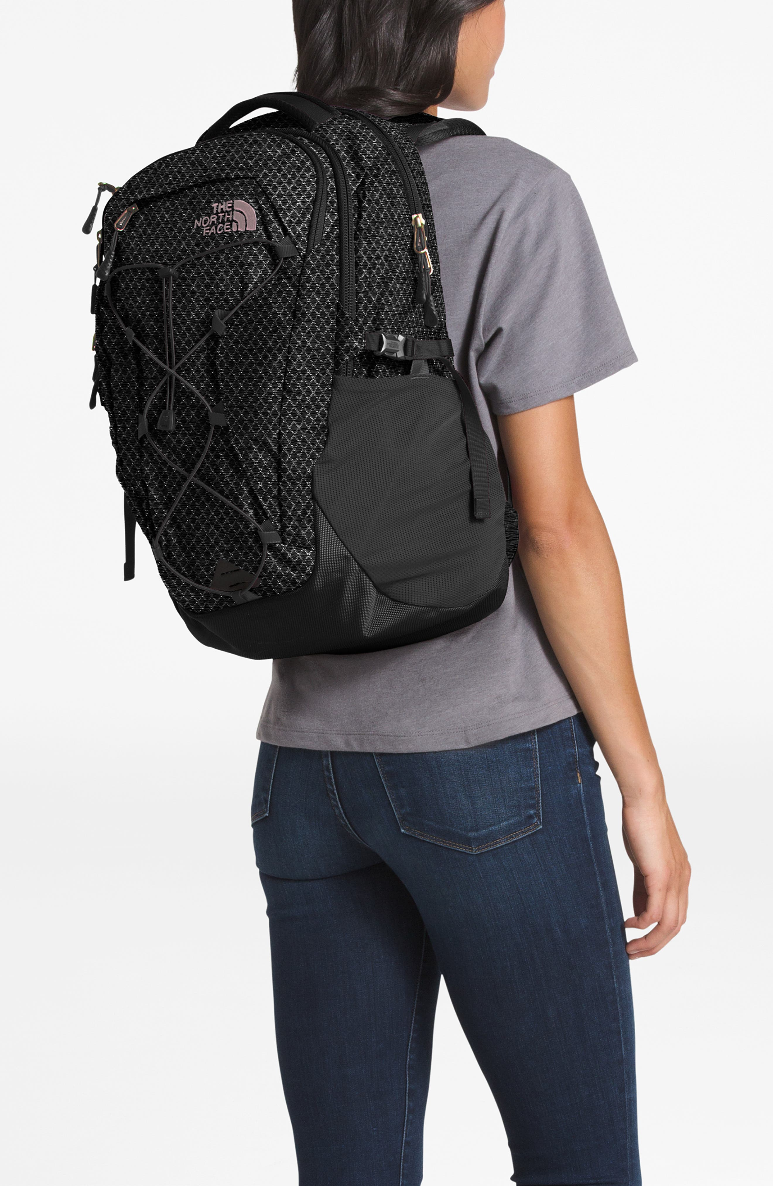 THE NORTH FACE, Borealis Backpack, Alternate thumbnail 2, color, TNF BLACK/ BURNT CORAL