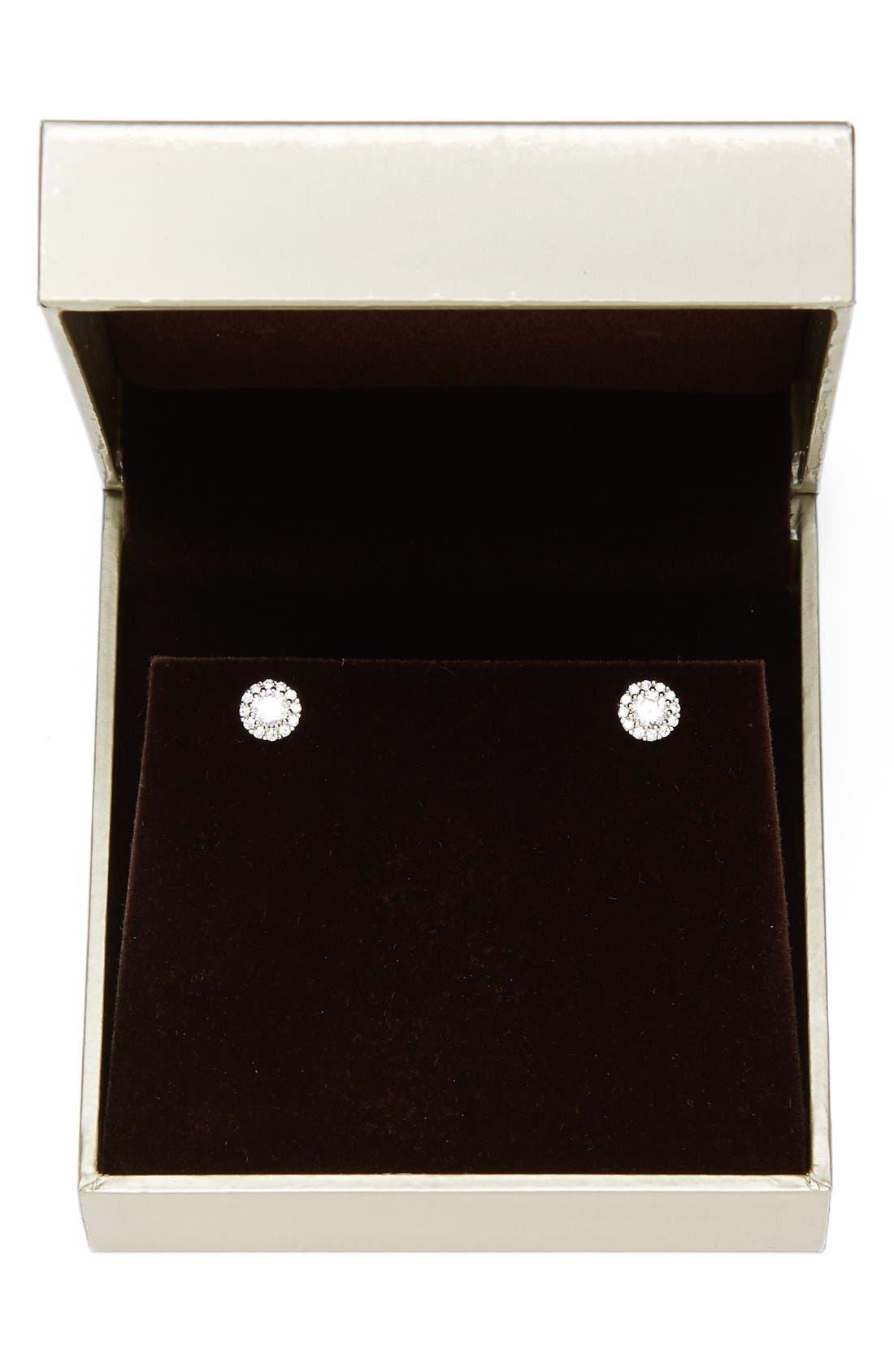 NORDSTROM, Precious Metal Plated Cubic Zirconia Stud Earrings, Alternate thumbnail 2, color, PLATINUM