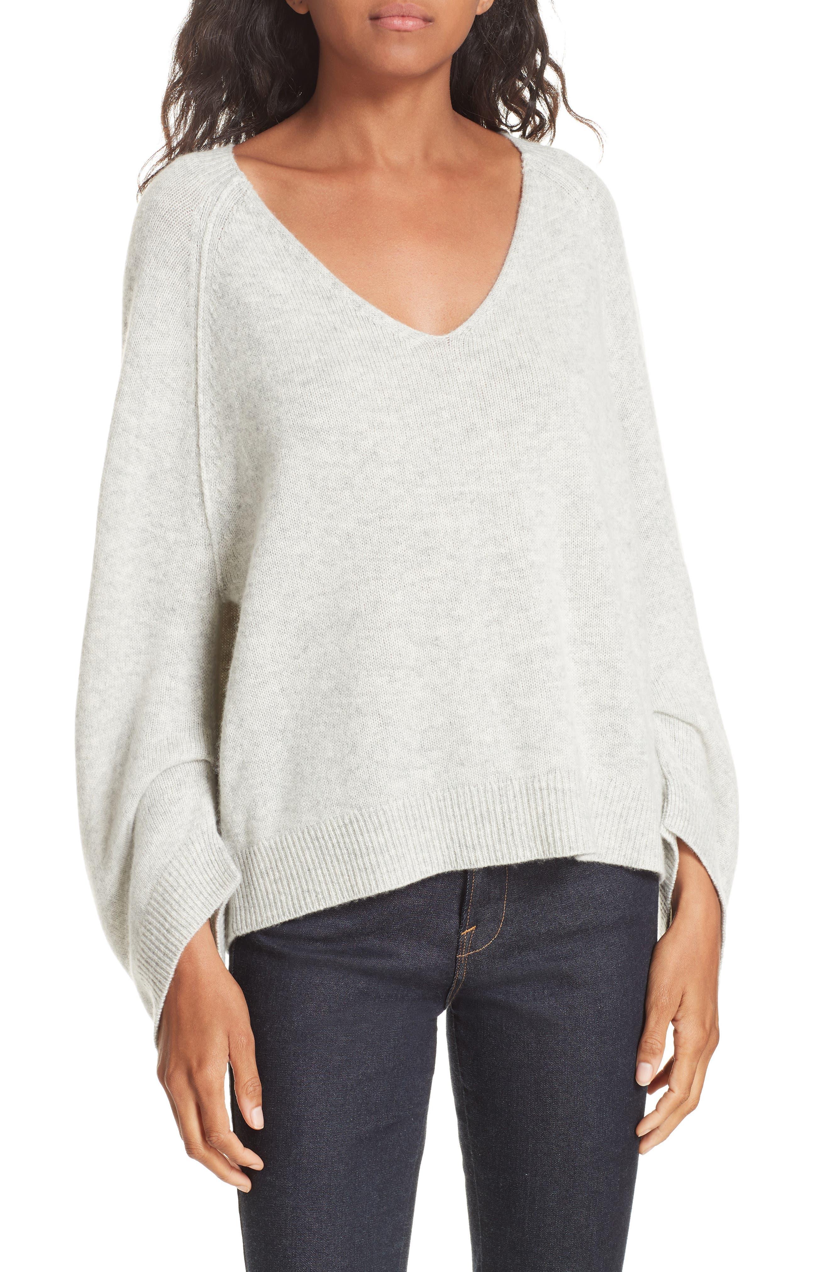 Brochu Walker Wool & Cashmere Sweater, Grey