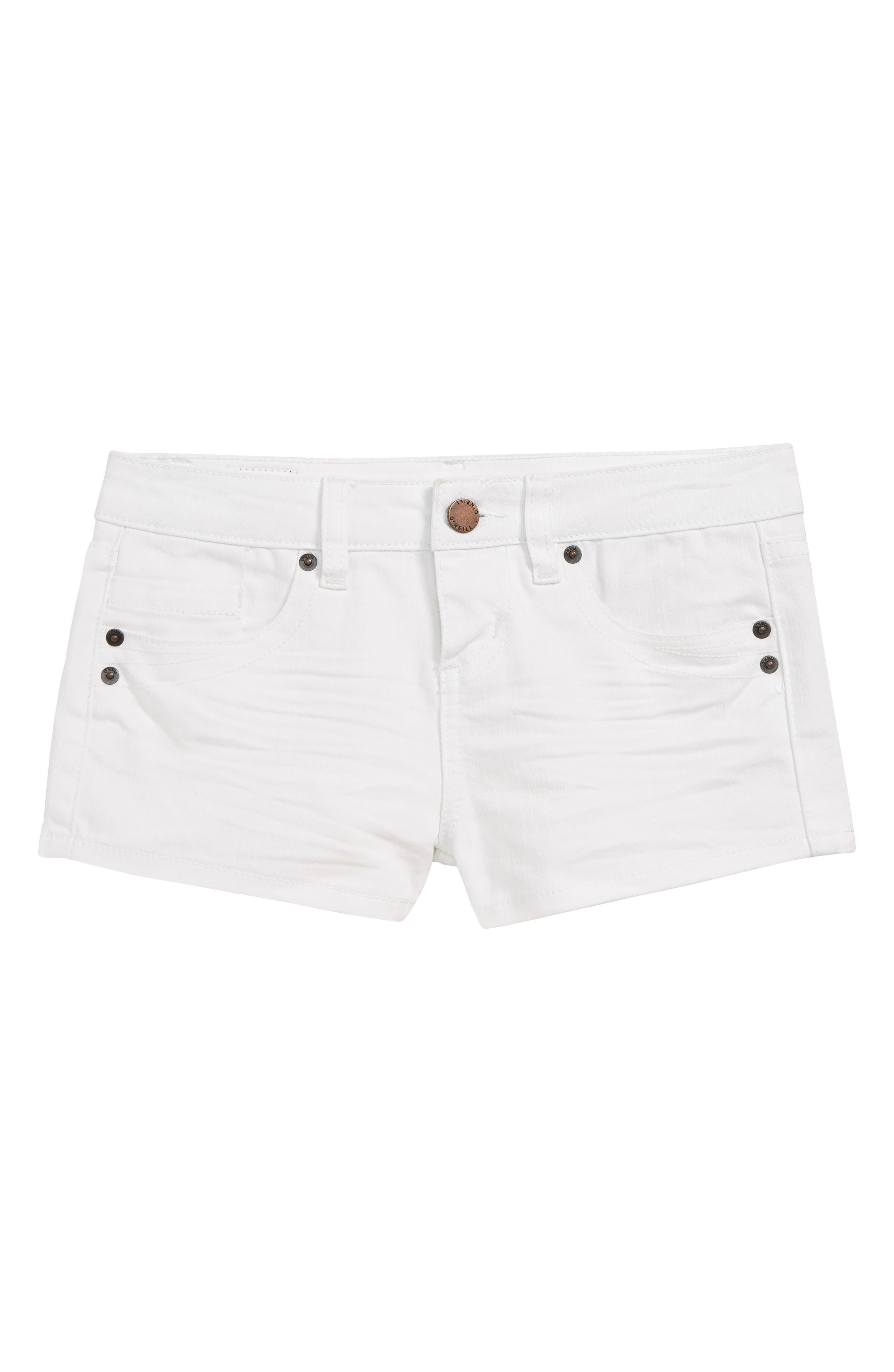 O'NEILL, Waidly Denim Shorts, Main thumbnail 1, color, WHITE