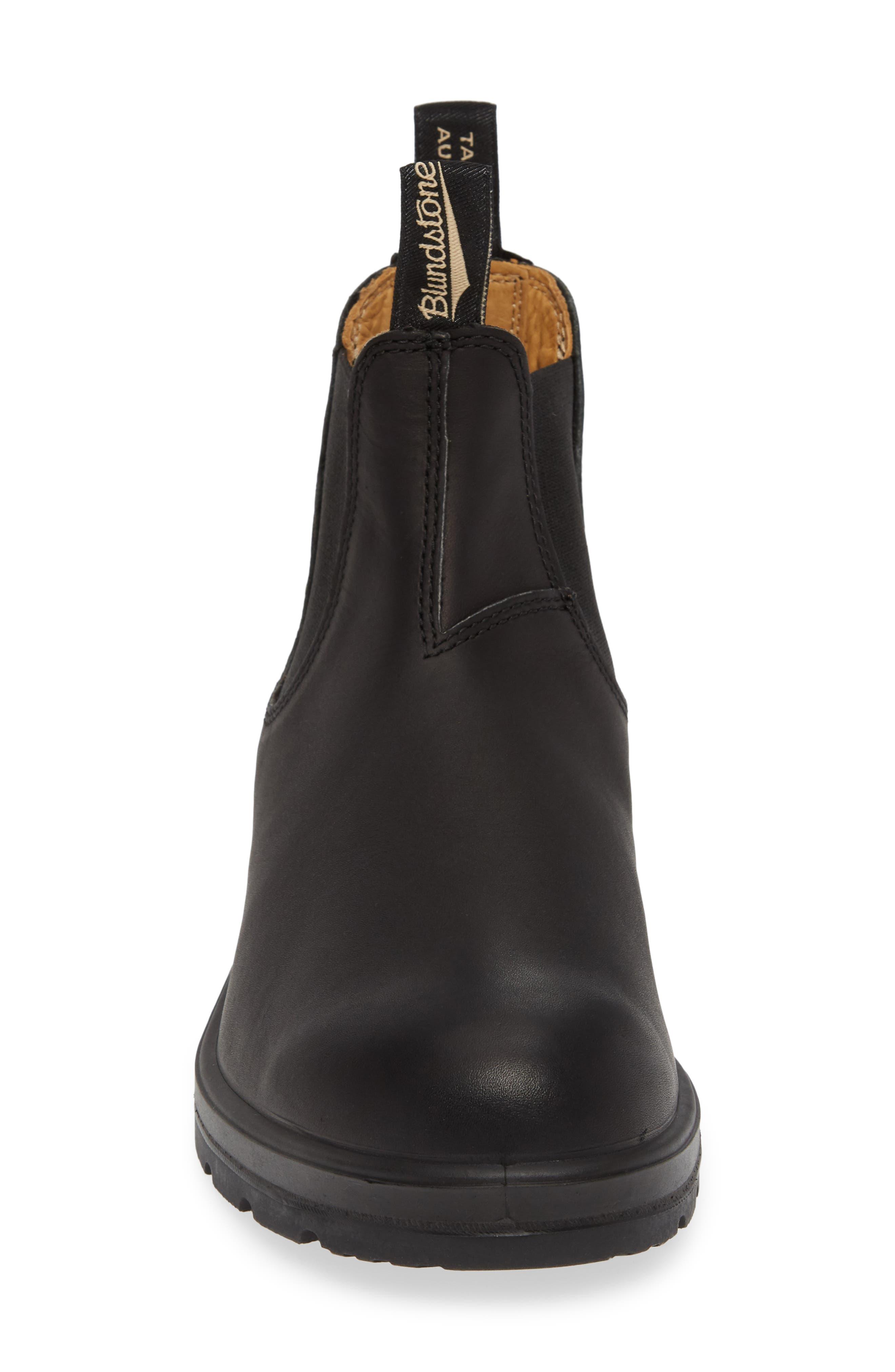 BLUNDSTONE FOOTWEAR, Chelsea Boot, Alternate thumbnail 4, color, BLACK