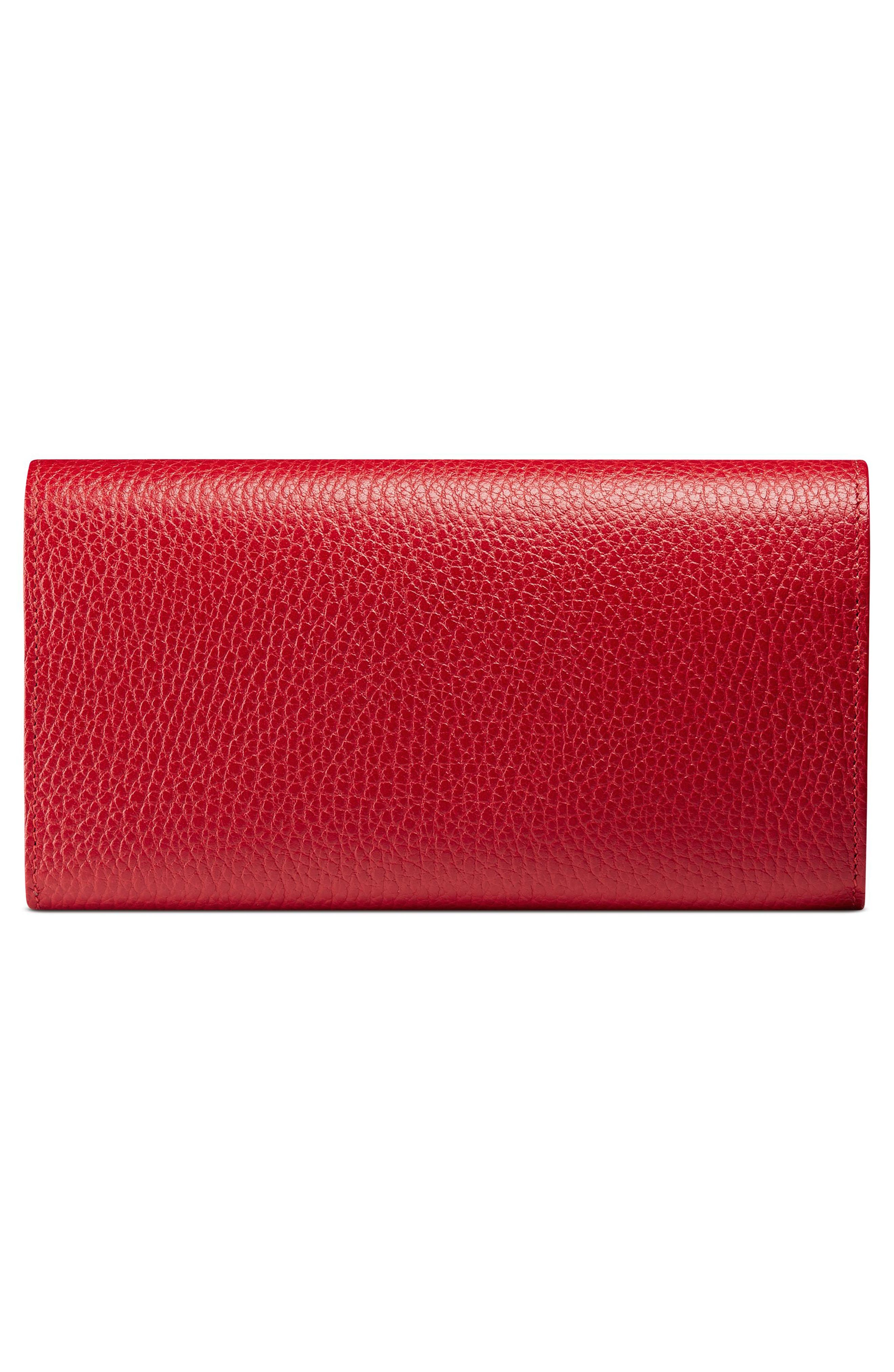 GUCCI, Petite Marmont Leather Continental Wallet, Alternate thumbnail 3, color, 625