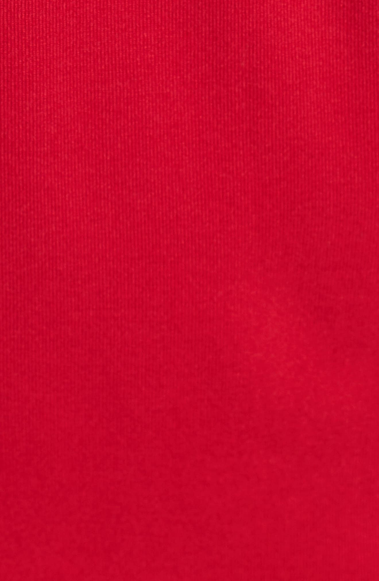CASLON<SUP>®</SUP>, Drawstring Jersey Maxi Dress, Alternate thumbnail 5, color, RED JALAPENO