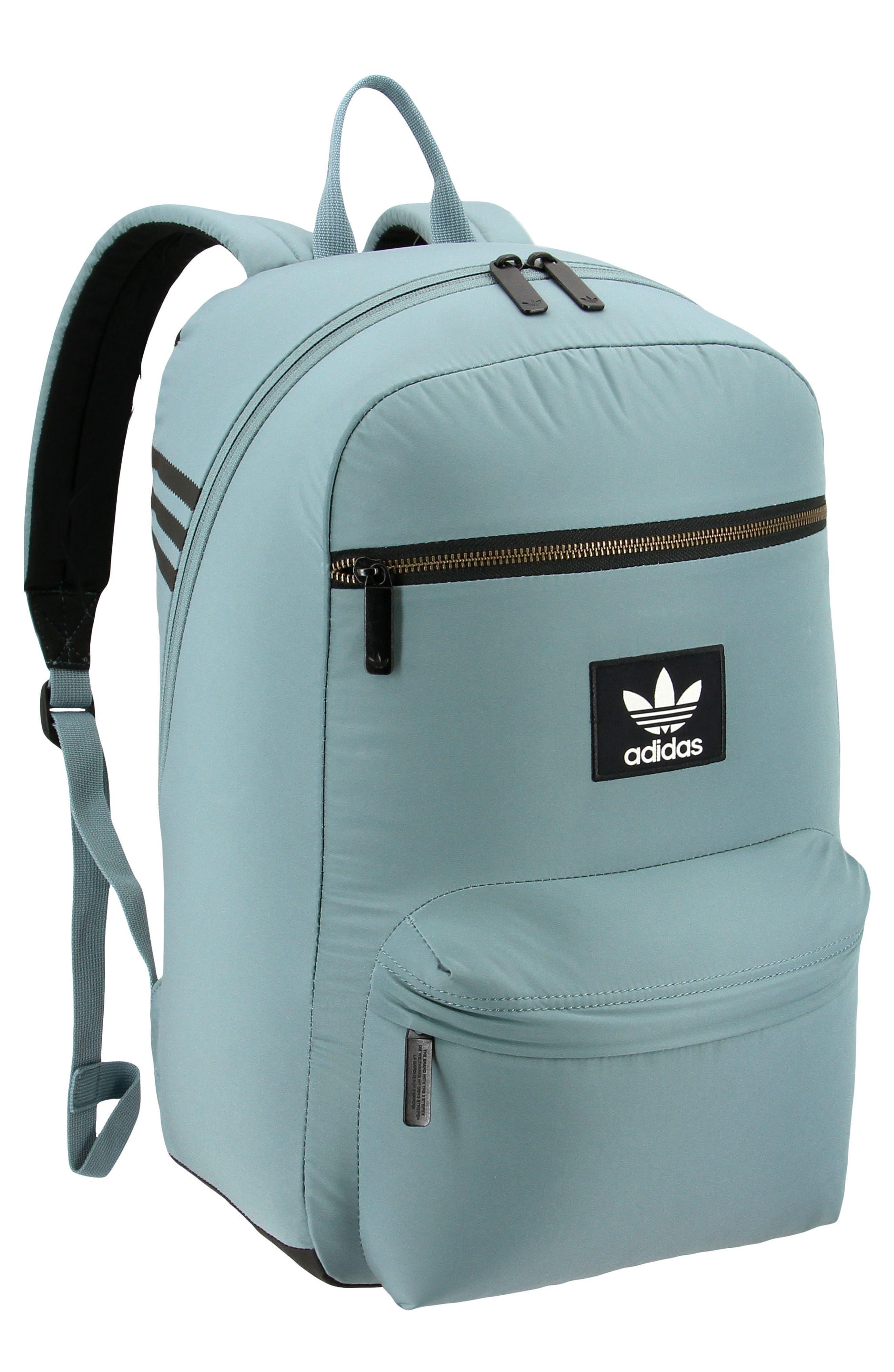 ADIDAS ORIGINALS, National Plus Backpack, Main thumbnail 1, color, RAW GREEN