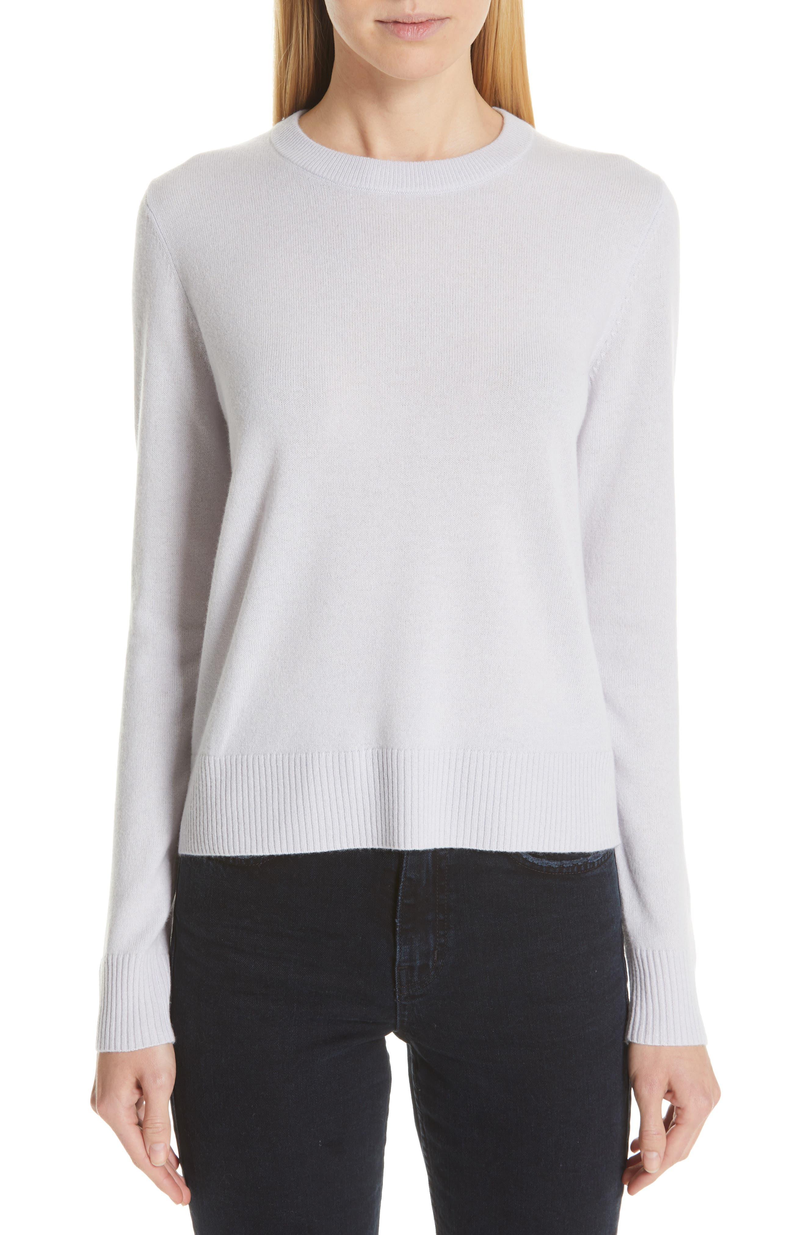PROENZA SCHOULER, Cashmere Sweater, Main thumbnail 1, color, BLUE GREY