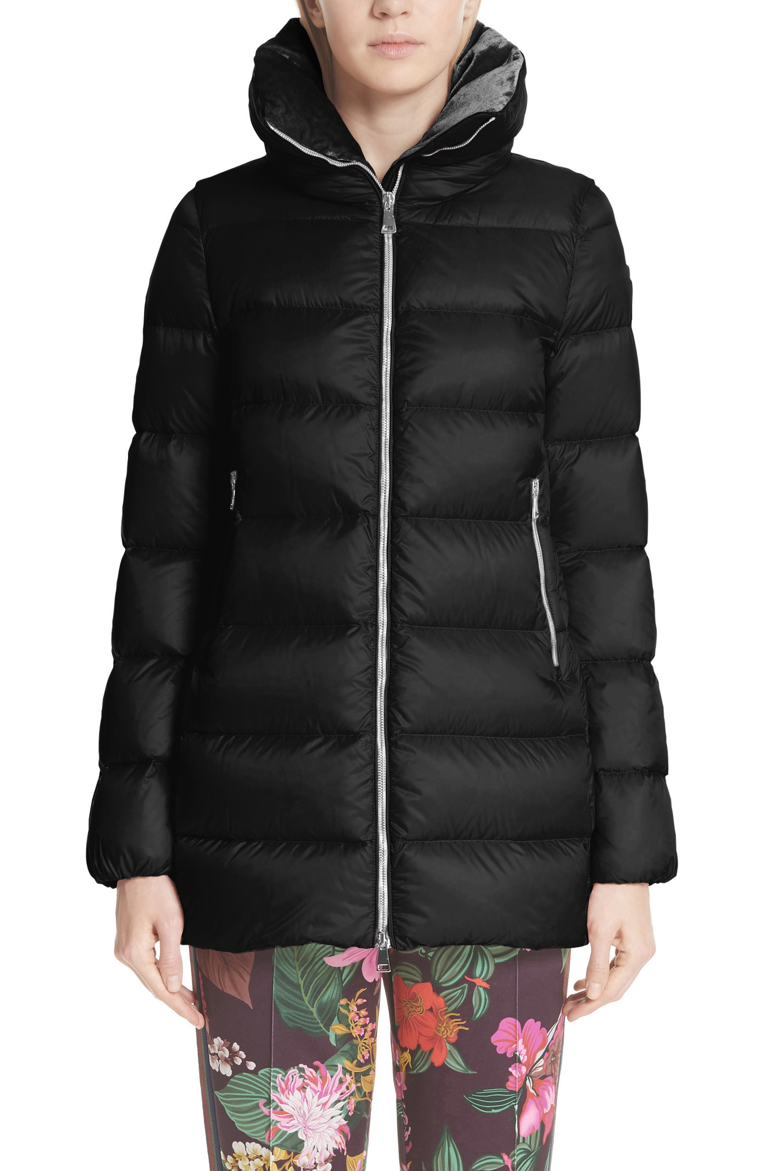 MONCLER, Torcol Quilted Down Jacket, Main thumbnail 1, color, BLACK