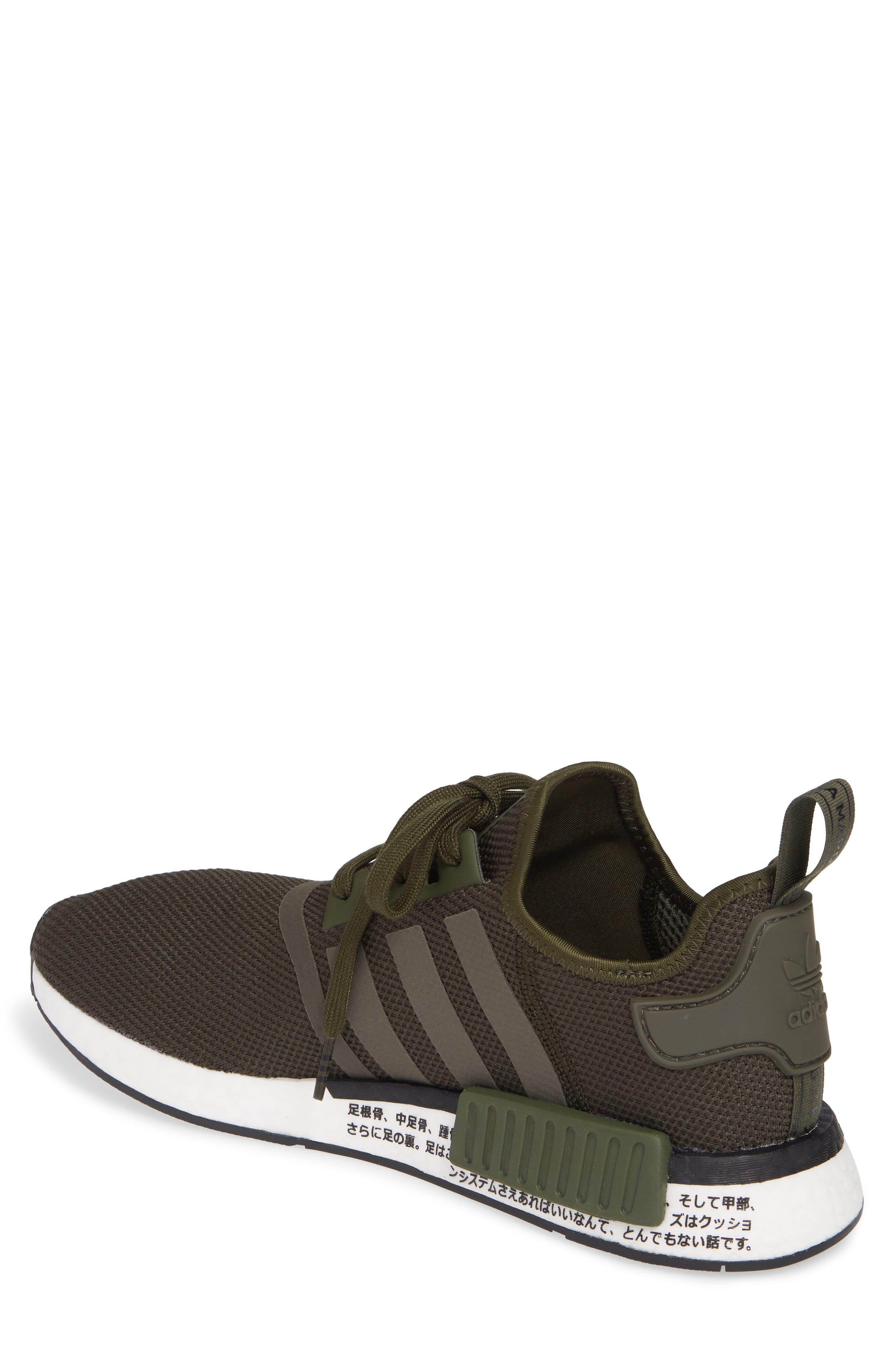 ADIDAS, Originals NMD R1 Sneaker, Alternate thumbnail 2, color, NIGHT CARGO/ BLACK