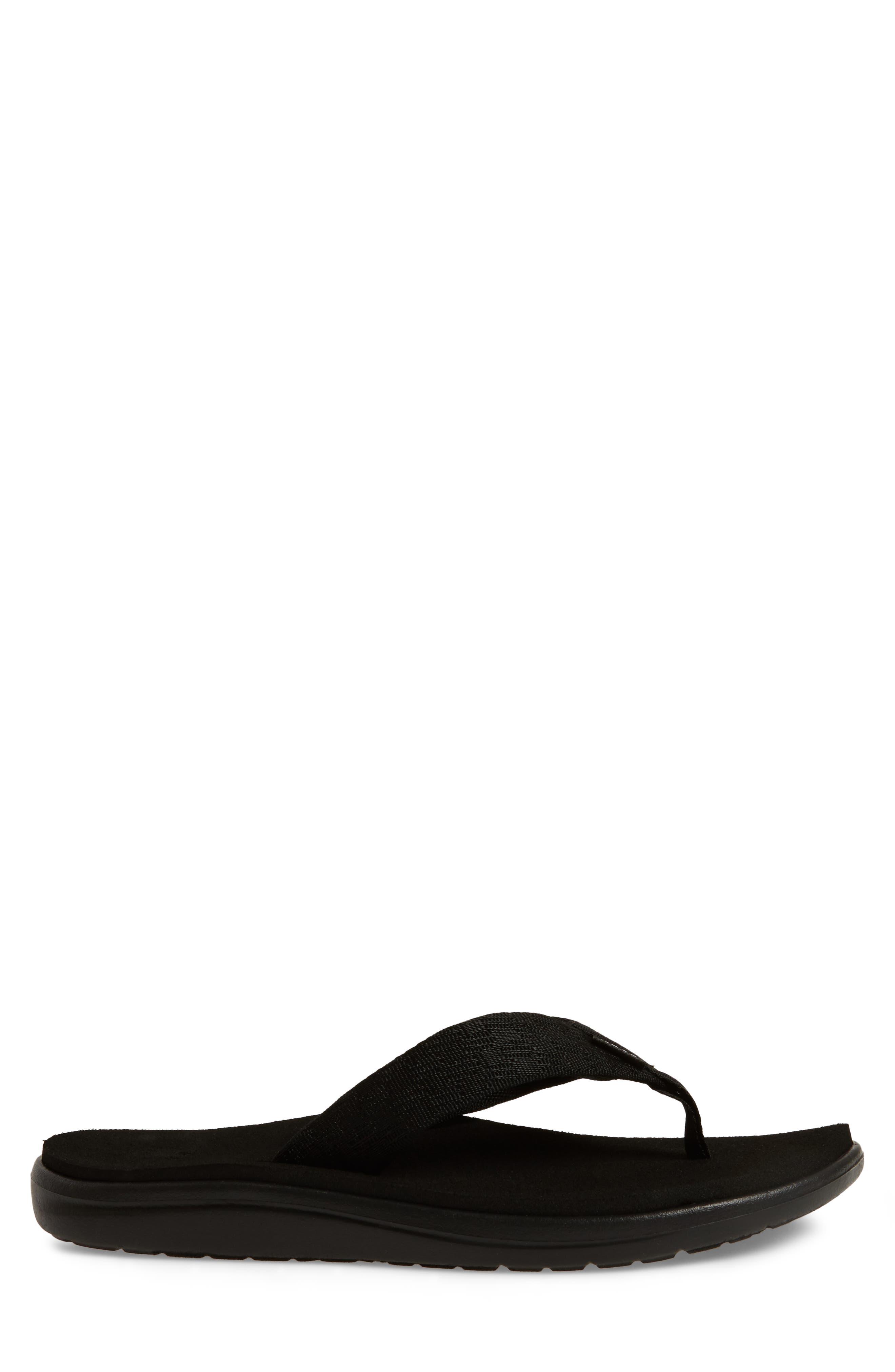 TEVA, Voya Flip Flop, Alternate thumbnail 3, color, BRICK BLACK NYLON