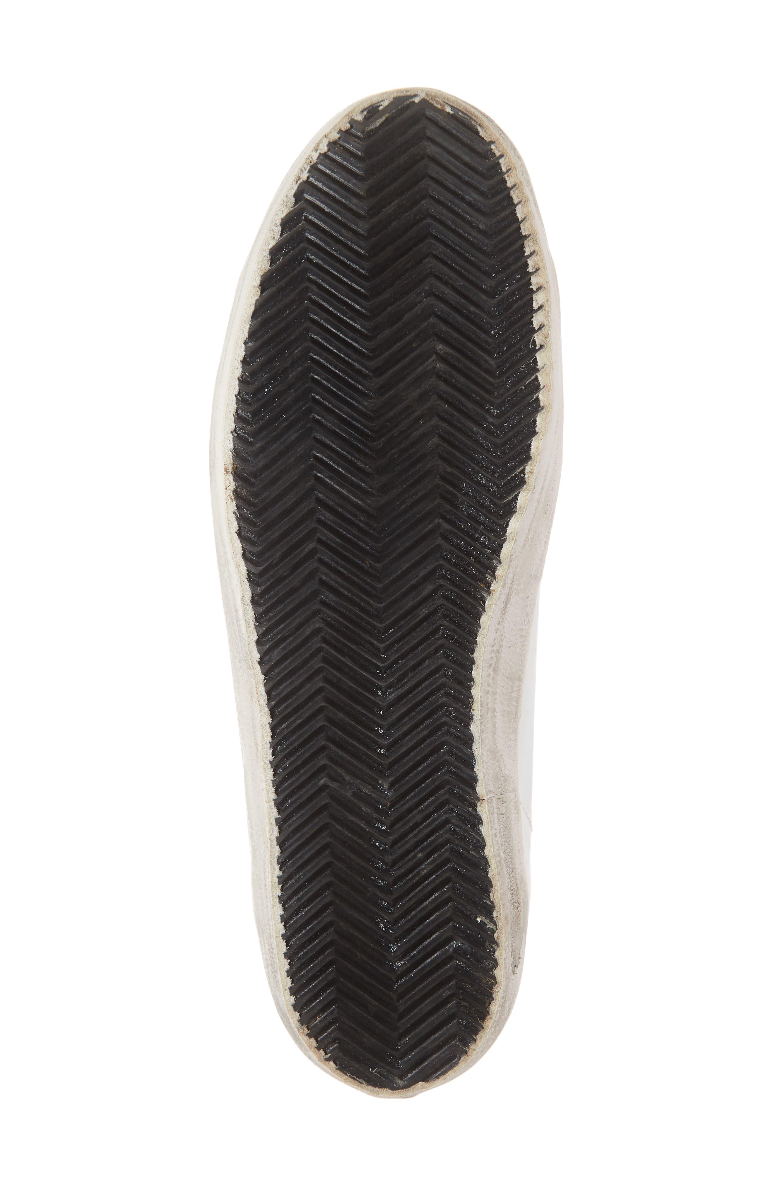 GOLDEN GOOSE, 'Superstar' Sneaker, Alternate thumbnail 6, color, WHITE/ BLACK
