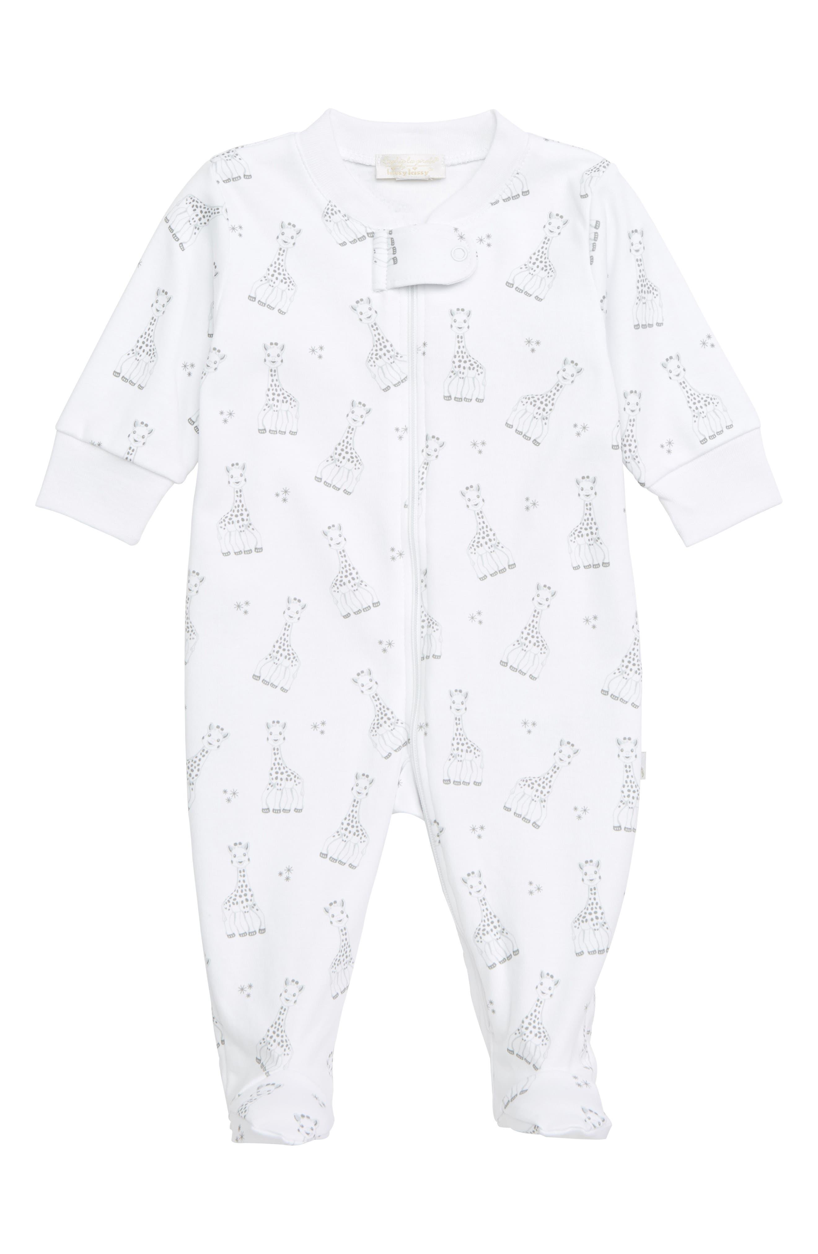 Infant Kissy Kissy X Sophie La Girafe Footie Size 36M  Grey