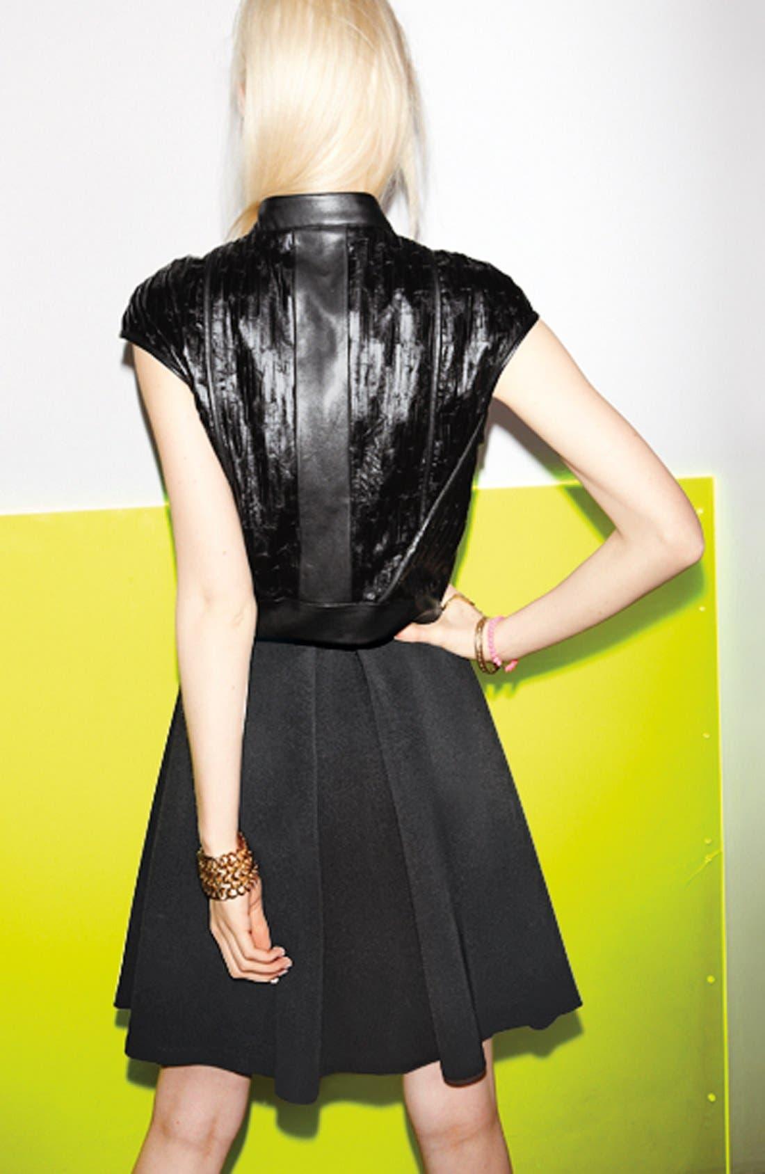 DEVLIN, Pleated Skirt, Alternate thumbnail 5, color, 001