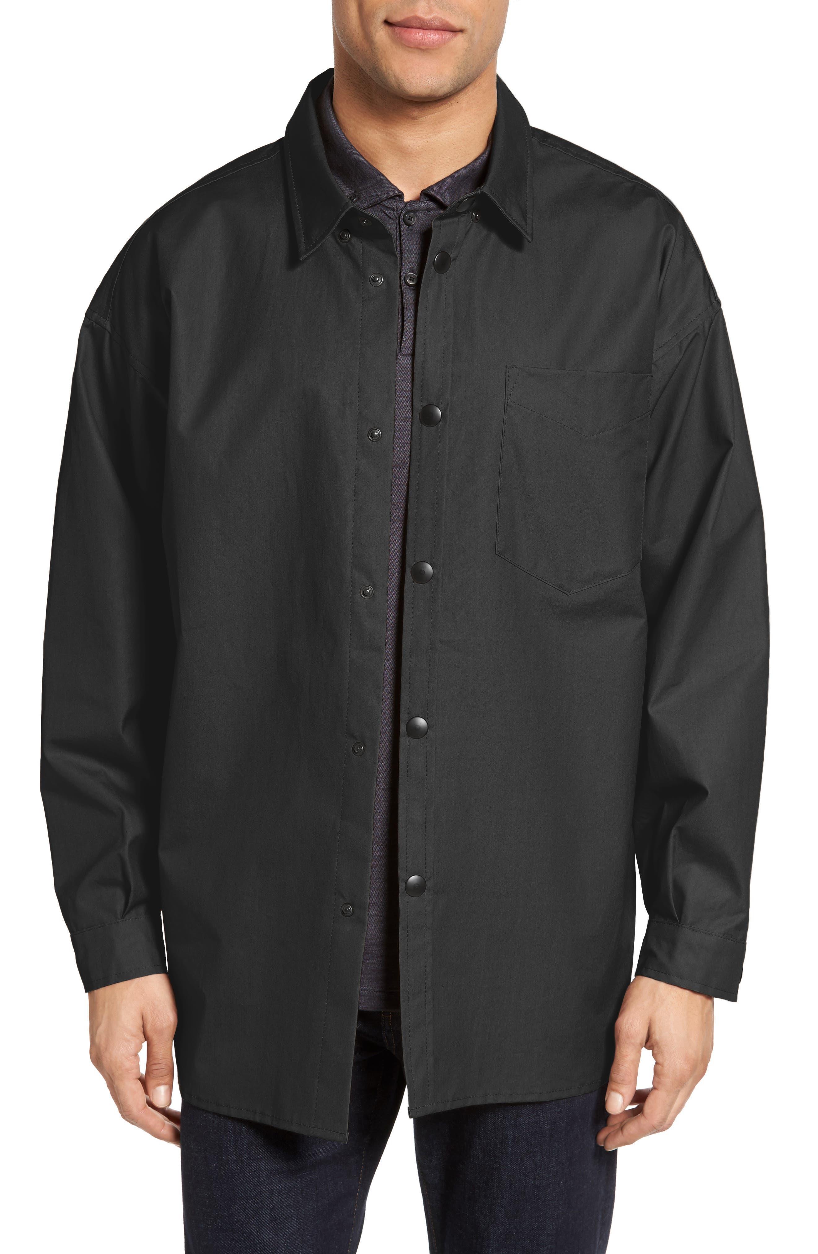 STUTTERHEIM Lerum Relaxed Fit Shirt Jacket, Main, color, 001