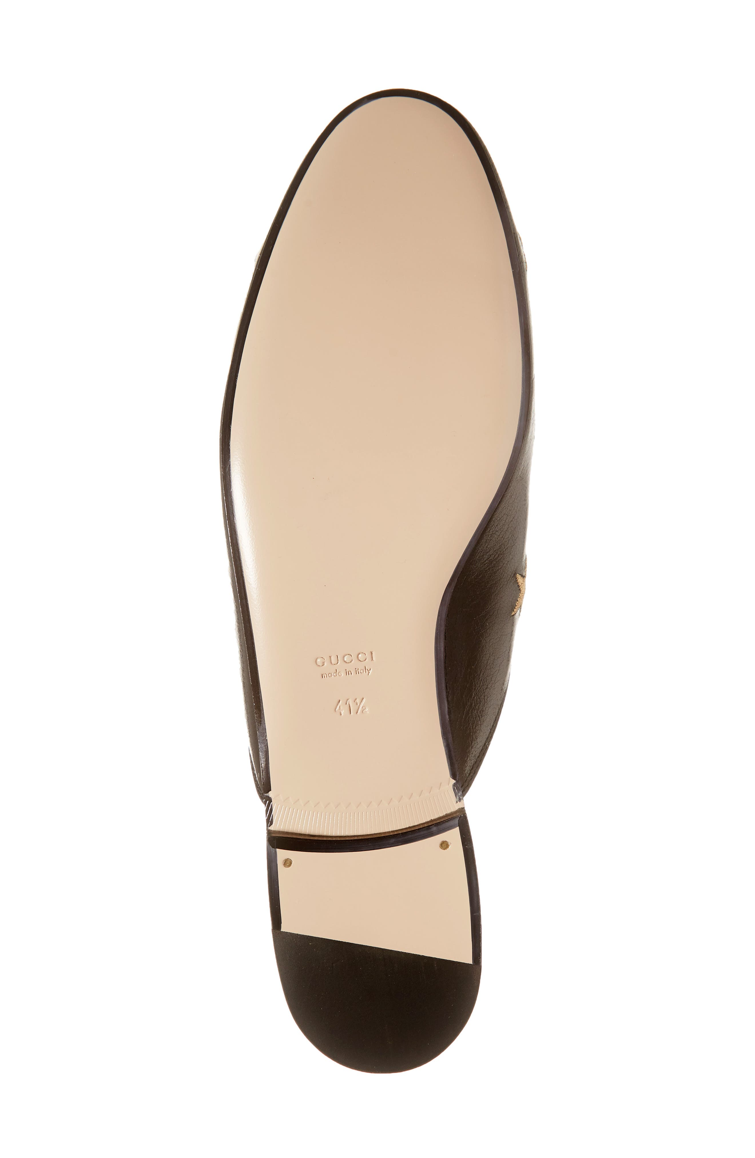 GUCCI, Princetown Mule, Alternate thumbnail 6, color, BLACK LEATHER