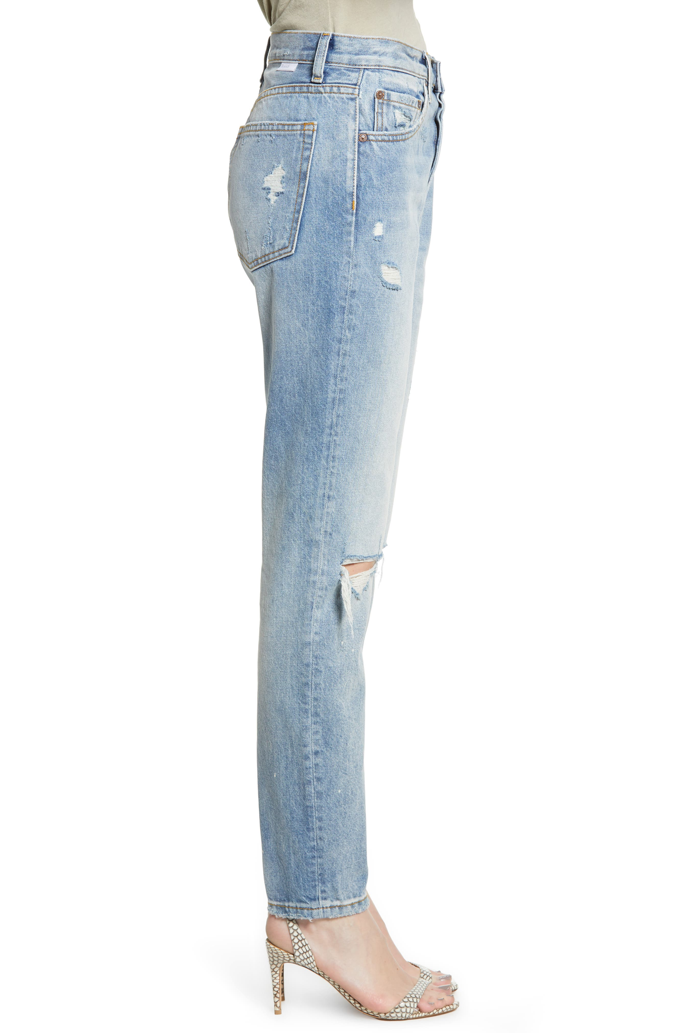 BOYISH JEANS, The Billy Ripped High Waist Ankle Skinny Jeans, Alternate thumbnail 4, color, EASY RIDER