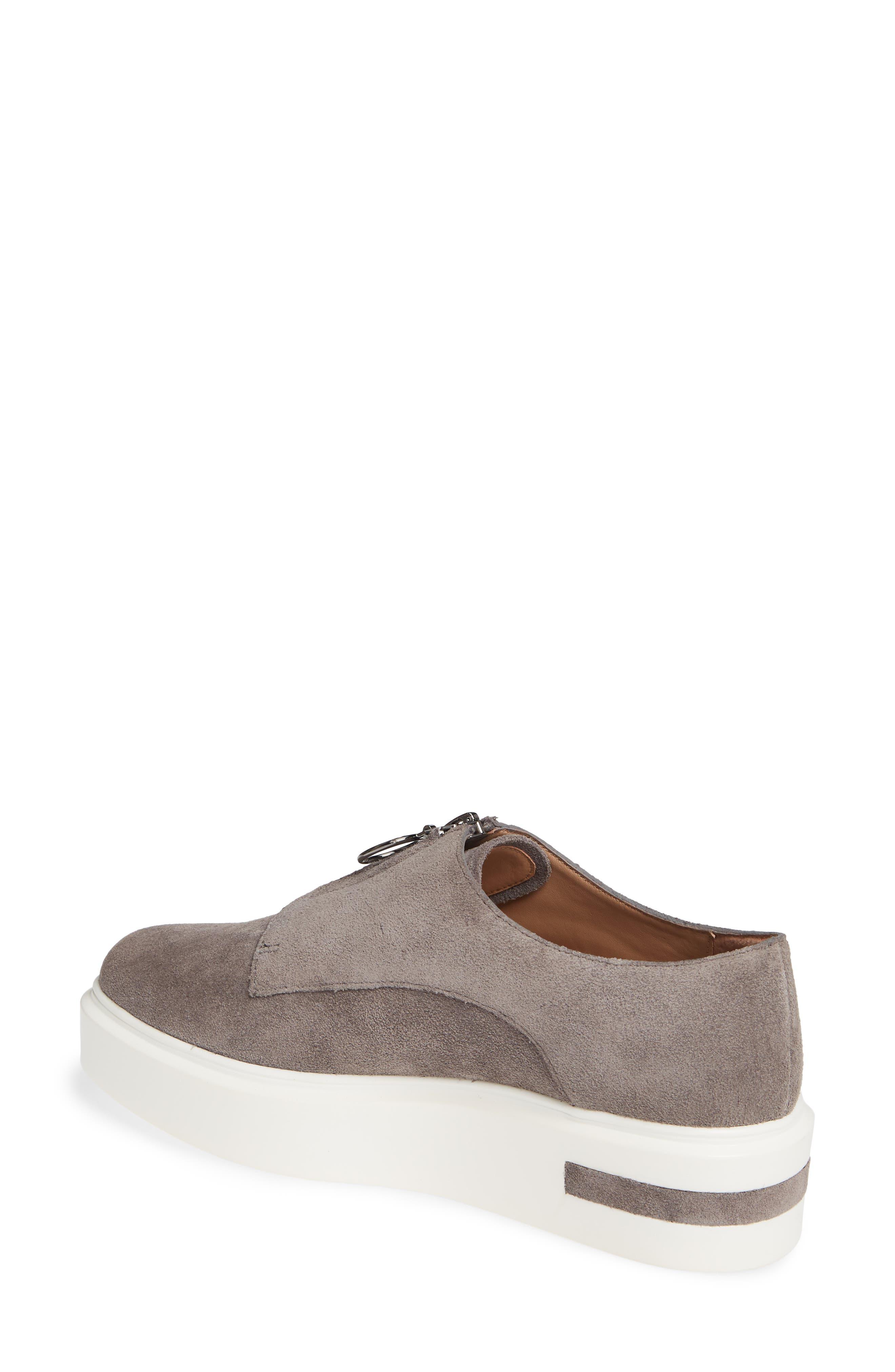 LINEA PAOLO, Kelani Platform Sneaker, Alternate thumbnail 2, color, STONE SUEDE
