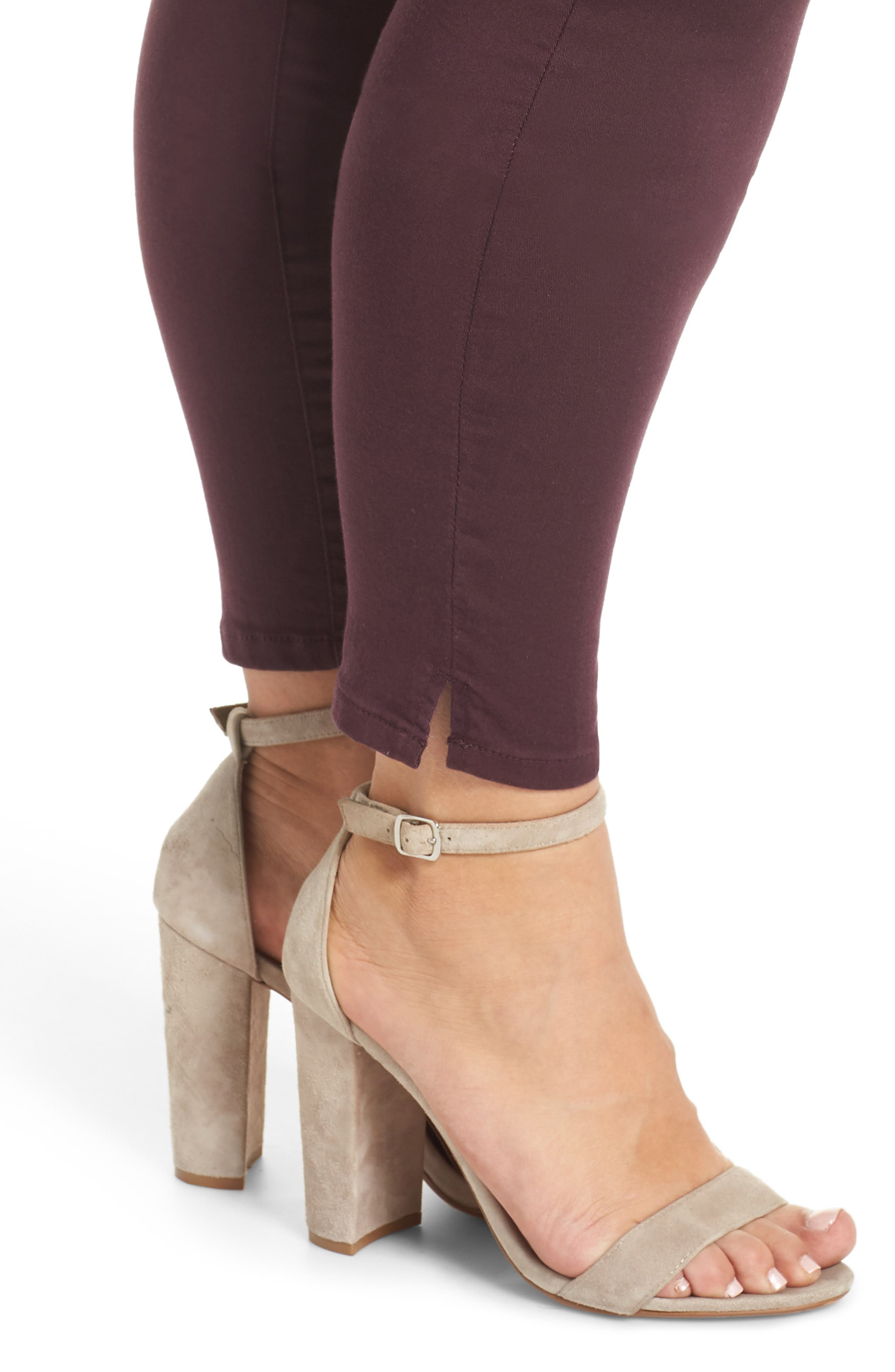 WIT & WISDOM, Ab-Solution Ankle Skimmer Jeans, Alternate thumbnail 5, color, DARK BYZANTIUM