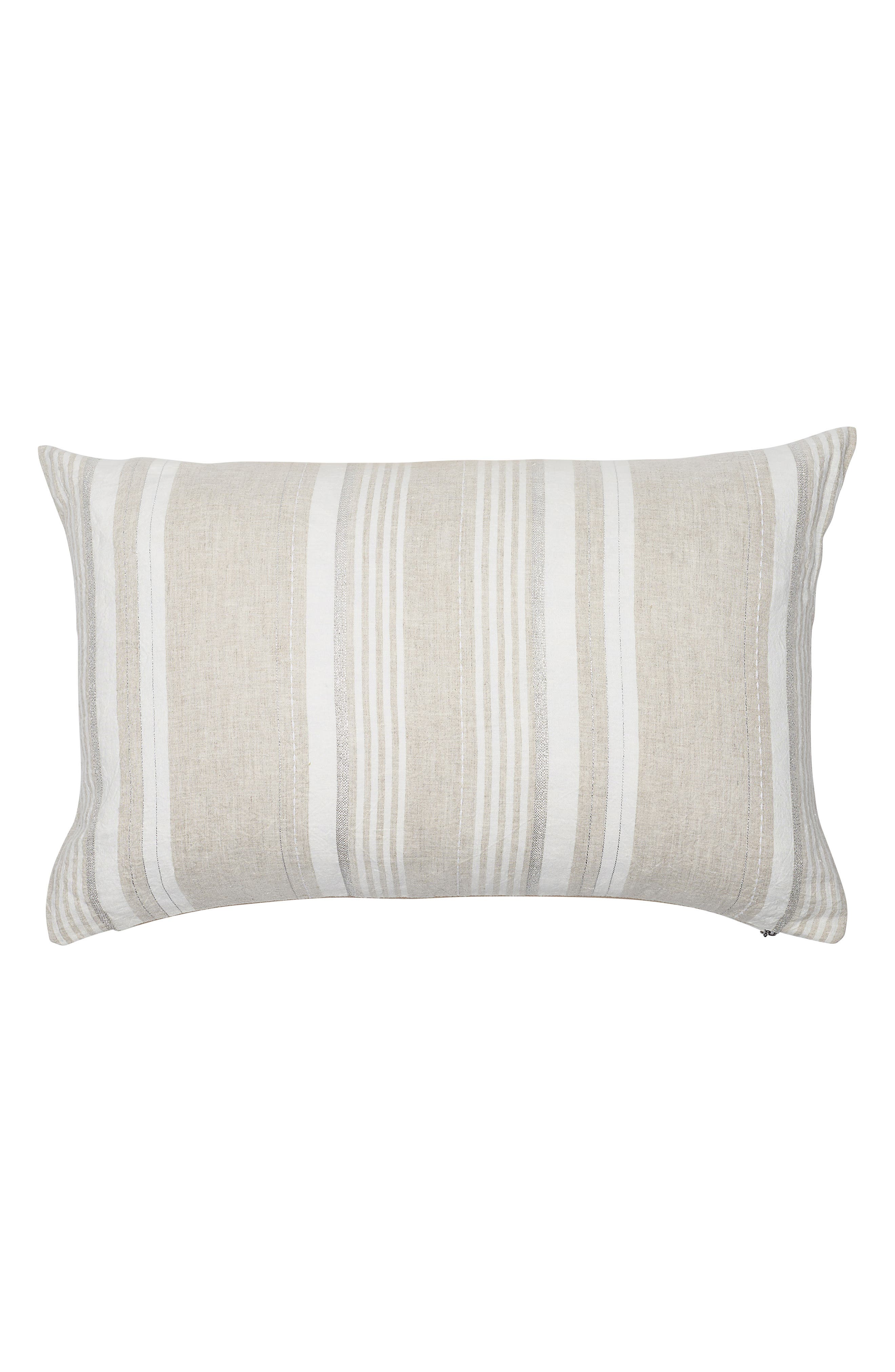 EADIE LIFESTYLE Dew Drop Scatter Accent Pillow, Main, color, NATURAL/ WHITE