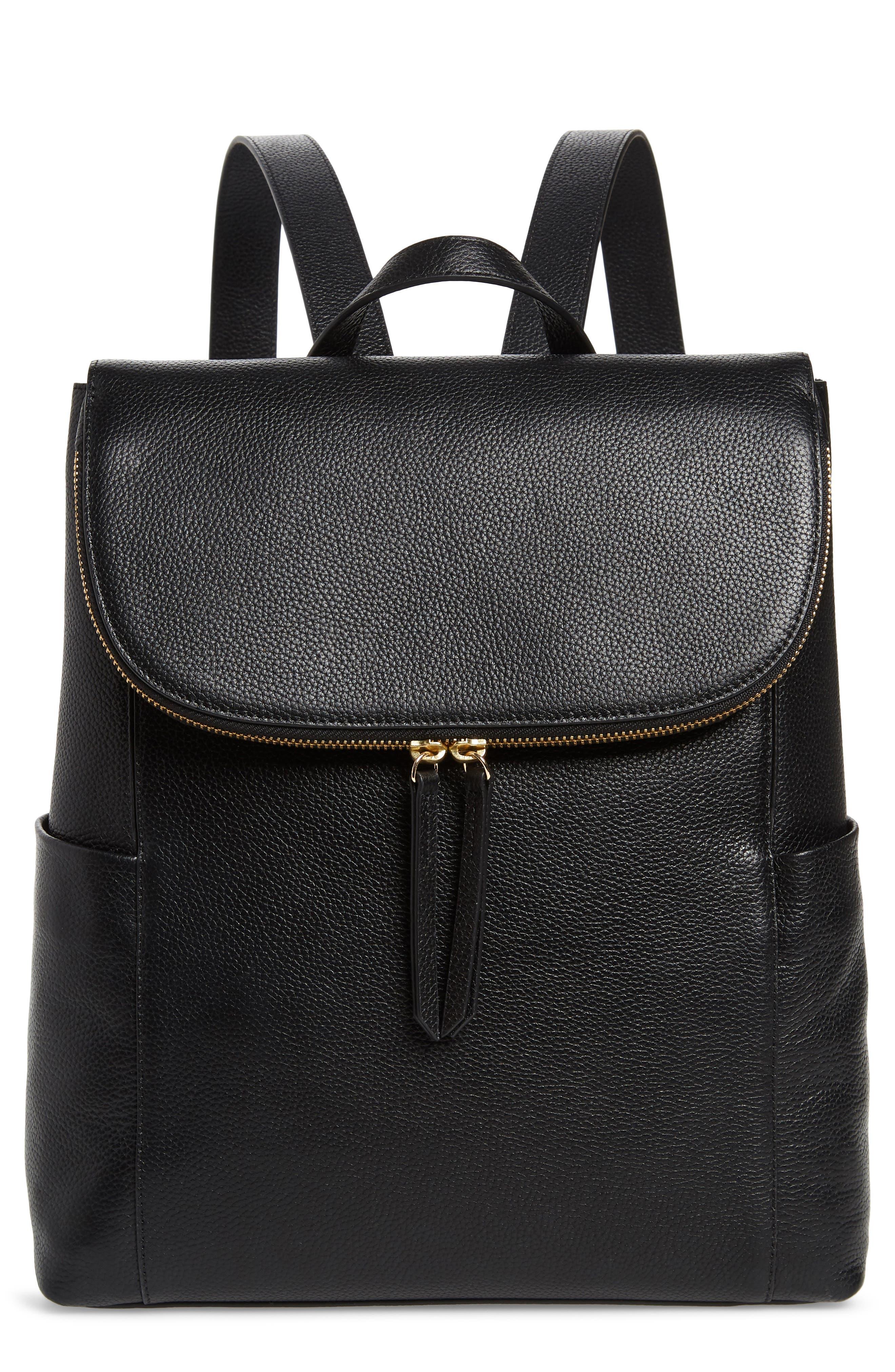 NORDSTROM Reah Backpack, Main, color, BLACK
