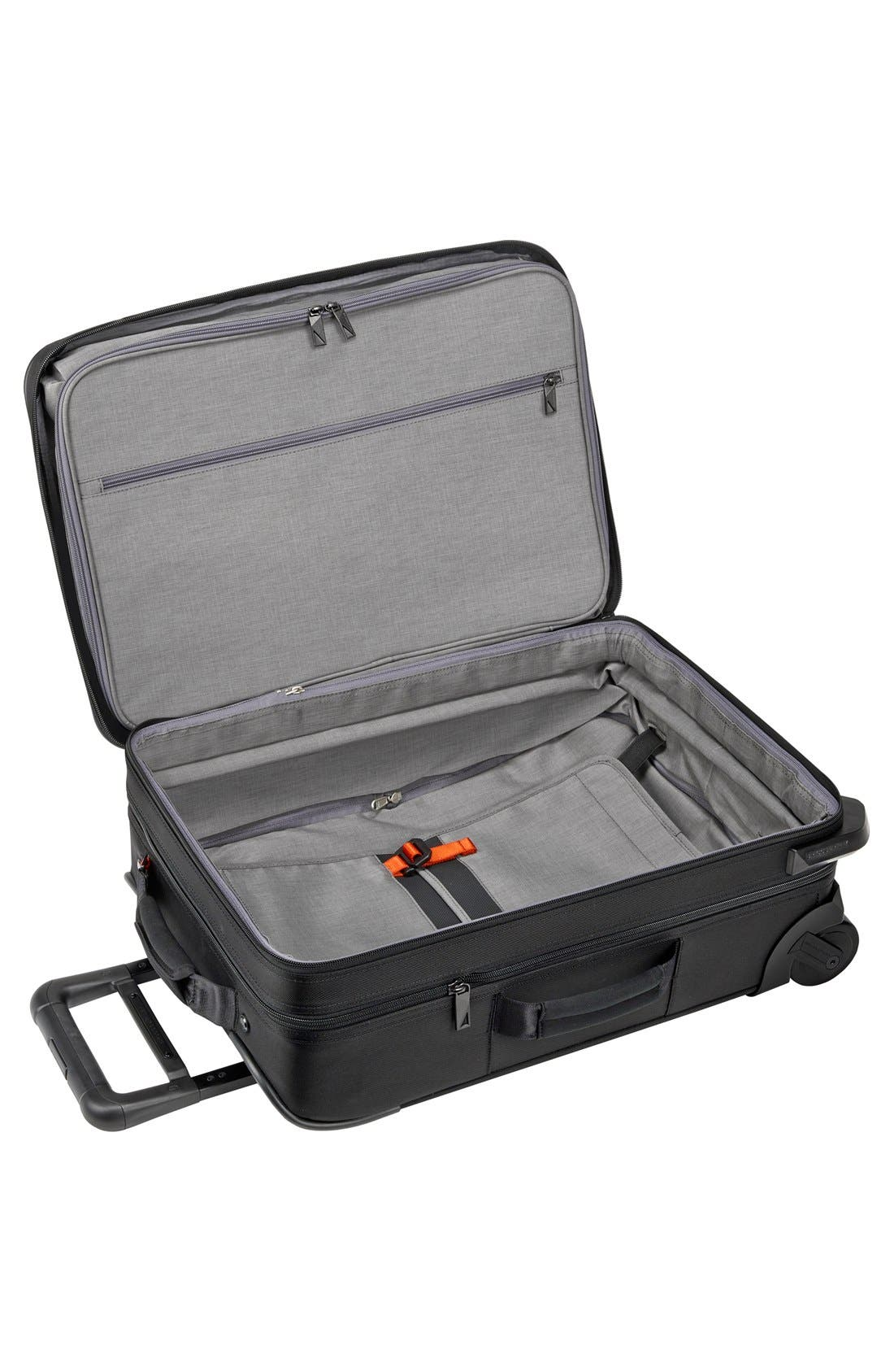 BRIGGS & RILEY, 'Verb - Pilot' Rolling Carry-On, Alternate thumbnail 5, color, BLACK