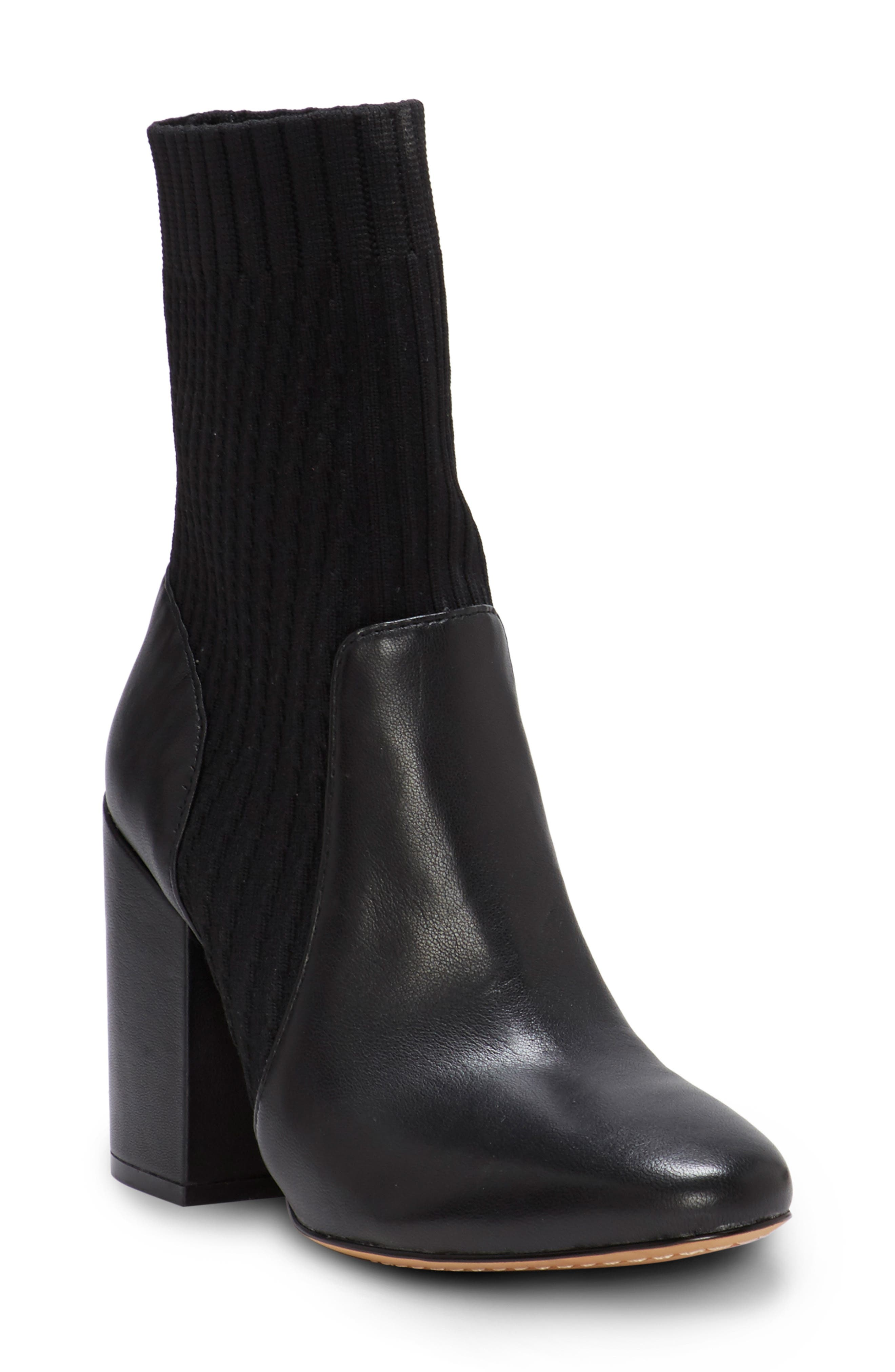 VINCE CAMUTO Diandra Boot, Main, color, BLACK LEATHER