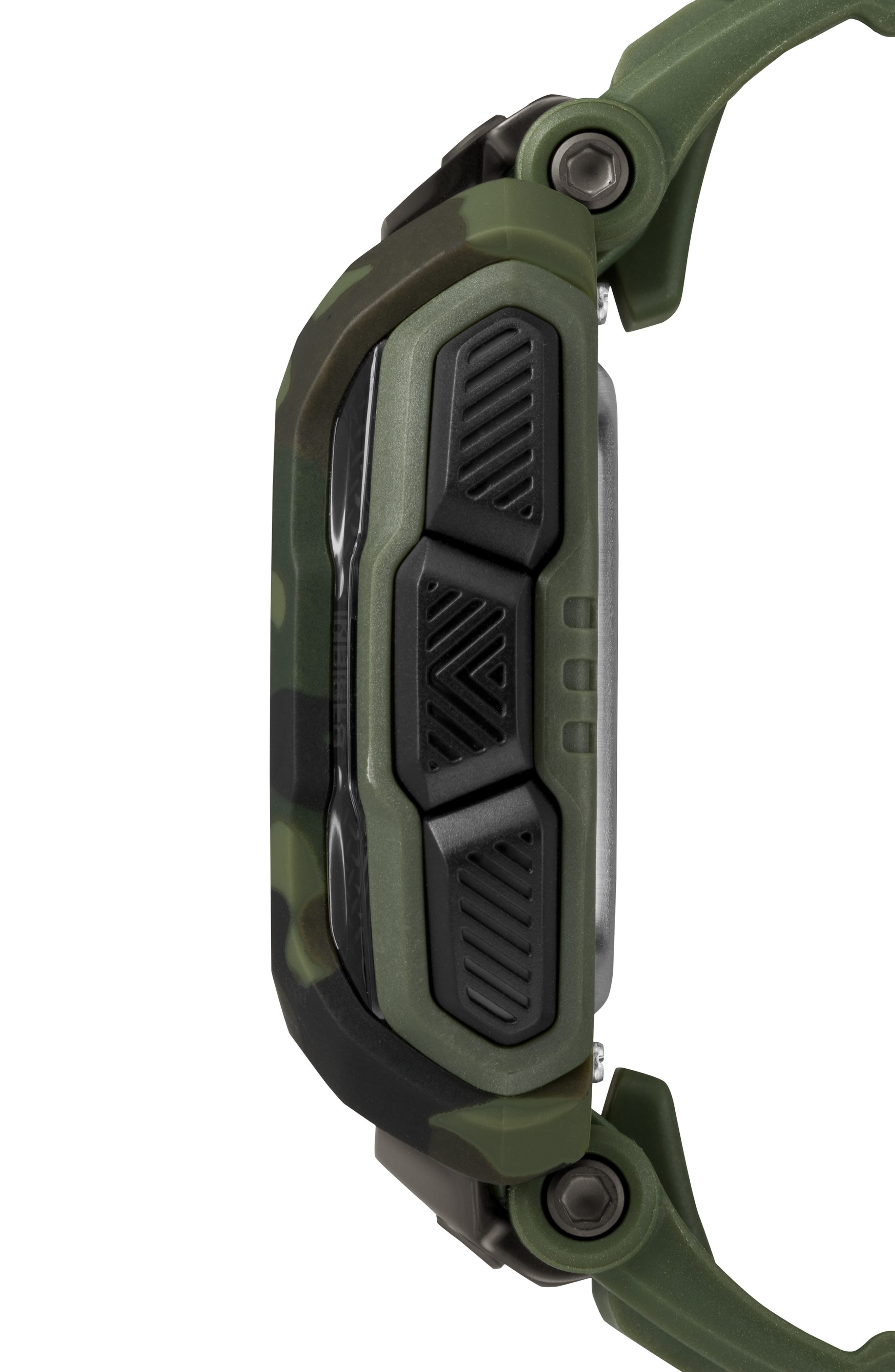 TIMEX<SUP>®</SUP>, Timex Command<sup>™</sup> Shock Digital Silicone Strap Watch, 54mm, Alternate thumbnail 3, color, OLIVE/ BLACK/ OLIVE
