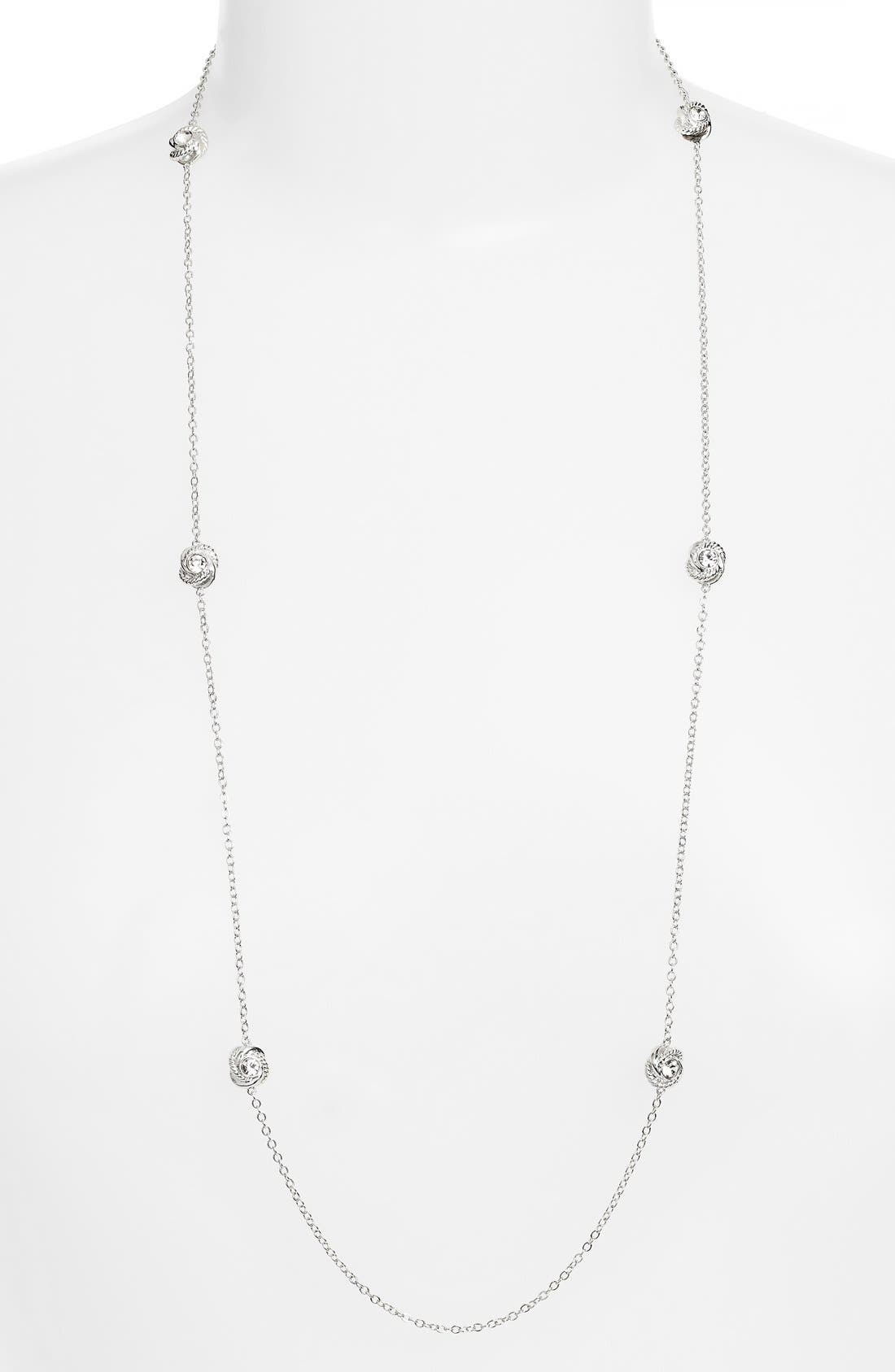 KATE SPADE NEW YORK 'infinity and beyond' knot station necklace, Main, color, 040