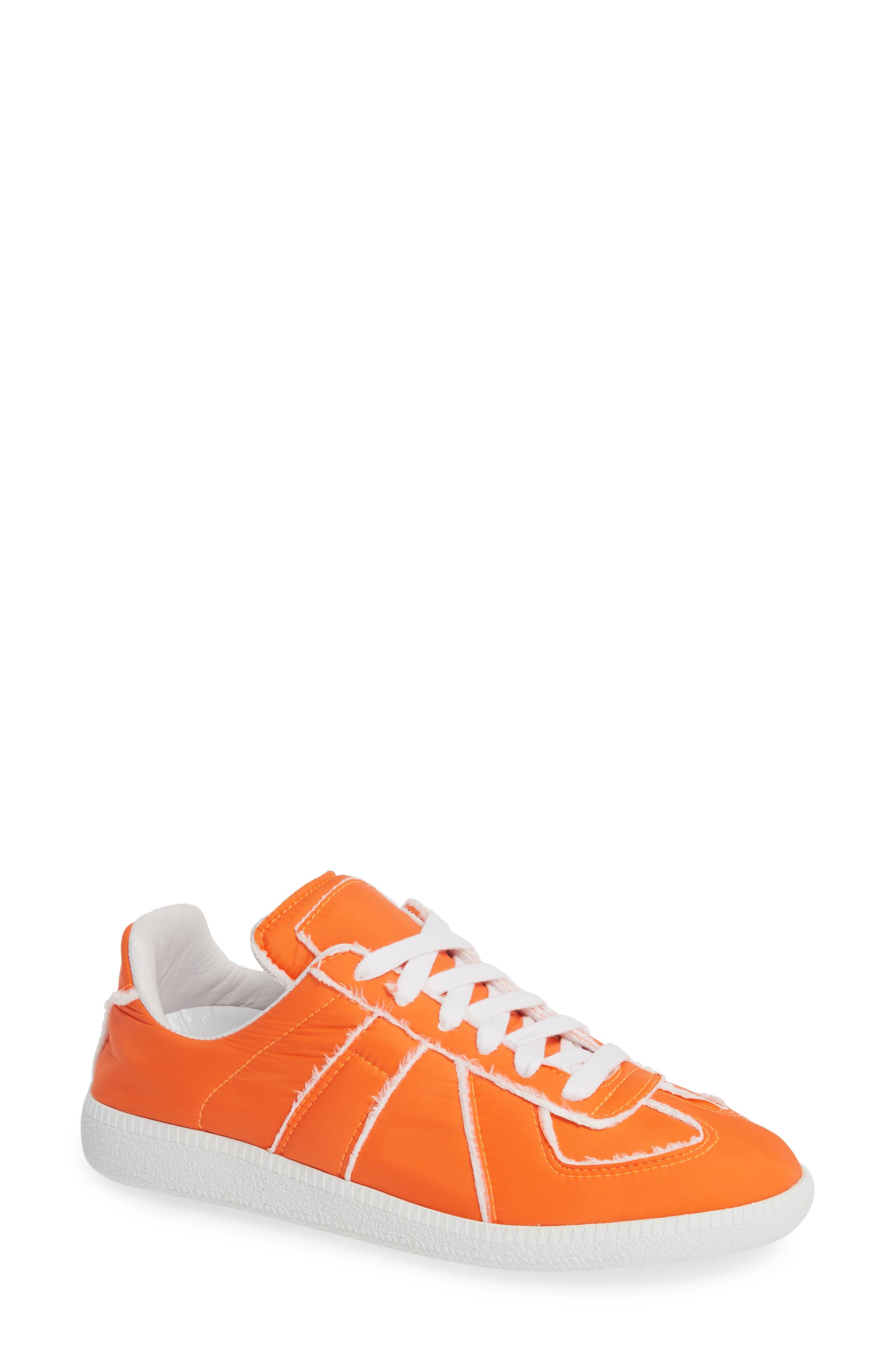 MAISON MARGIELA, Replica Lace-Up Sneaker, Main thumbnail 1, color, VERMILLION ORANGE