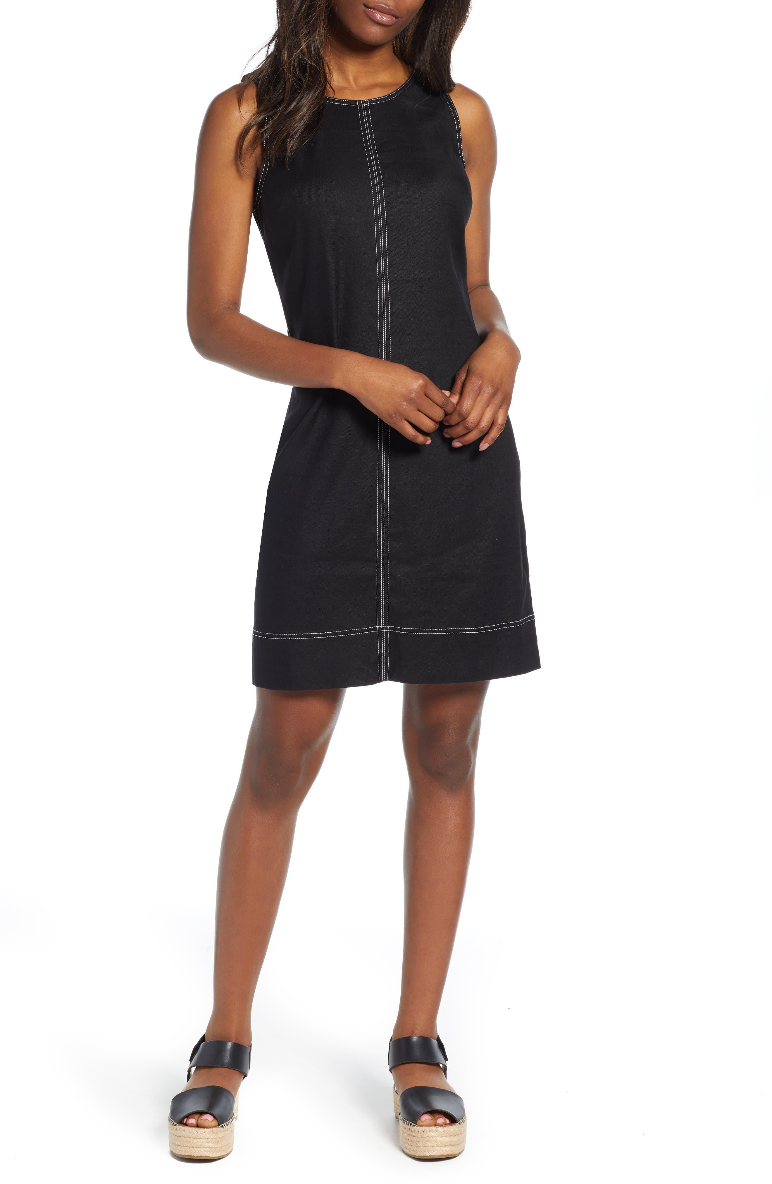 Tommy Bahama Palm-A-Dora Sleeveless Sheath Dress, Black