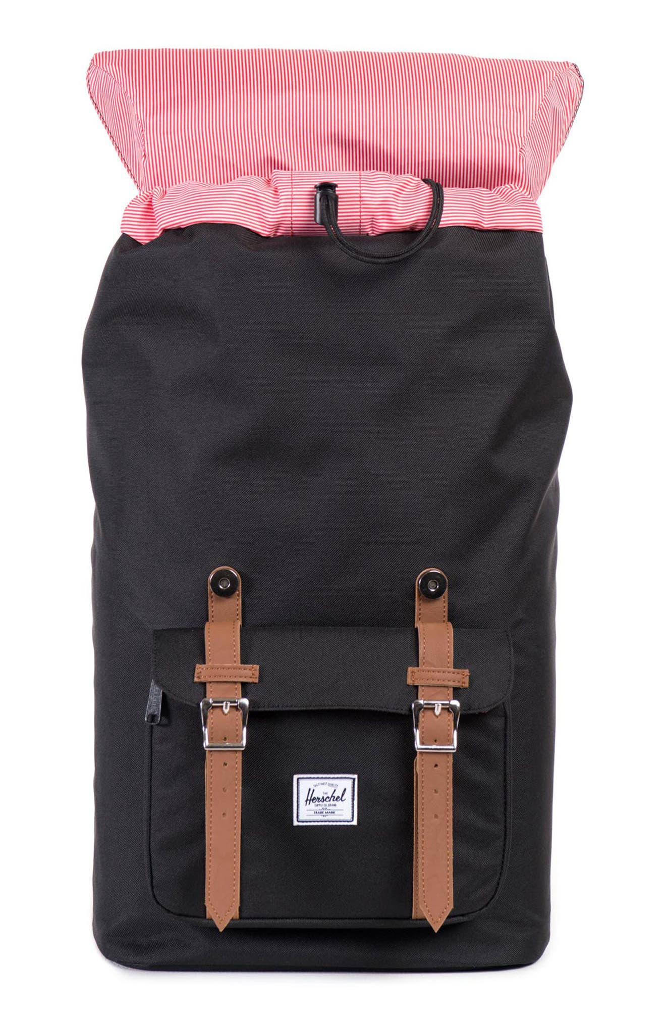 HERSCHEL SUPPLY CO., 'Little America' Backpack, Alternate thumbnail 5, color, BLACK