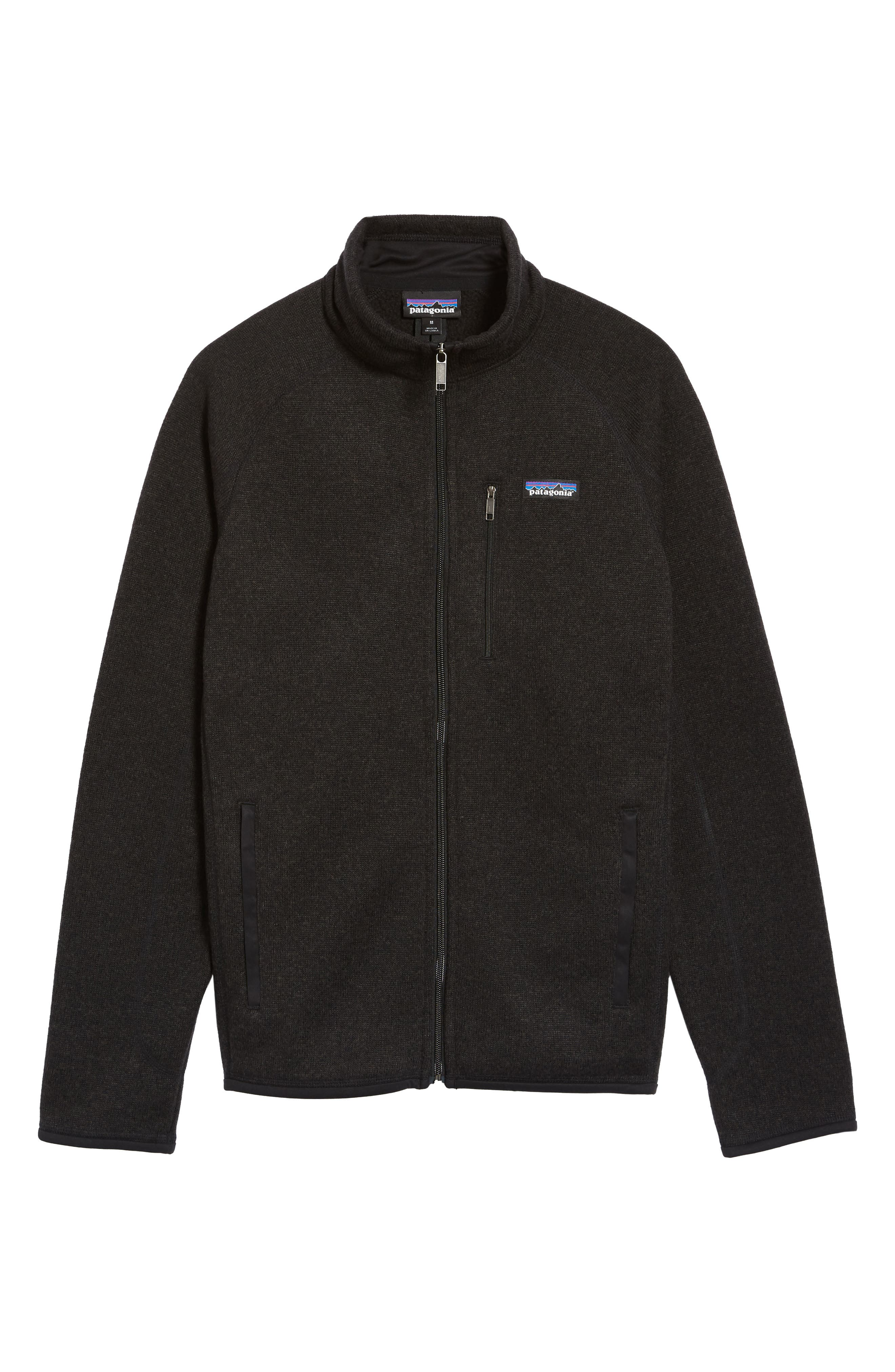 PATAGONIA, Better Sweater Zip Front Jacket, Alternate thumbnail 6, color, BLACK
