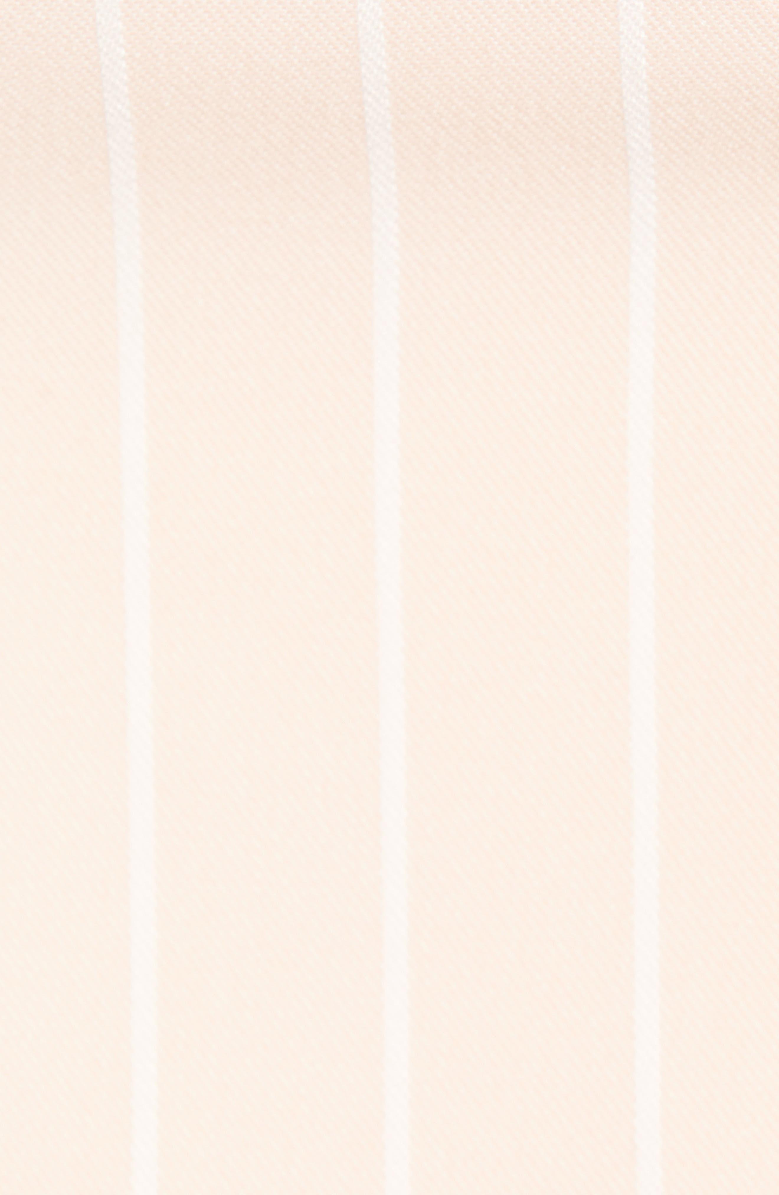 WAYF, Lace Trim Bustier, Alternate thumbnail 5, color, BLUSH WIDE STRIPE