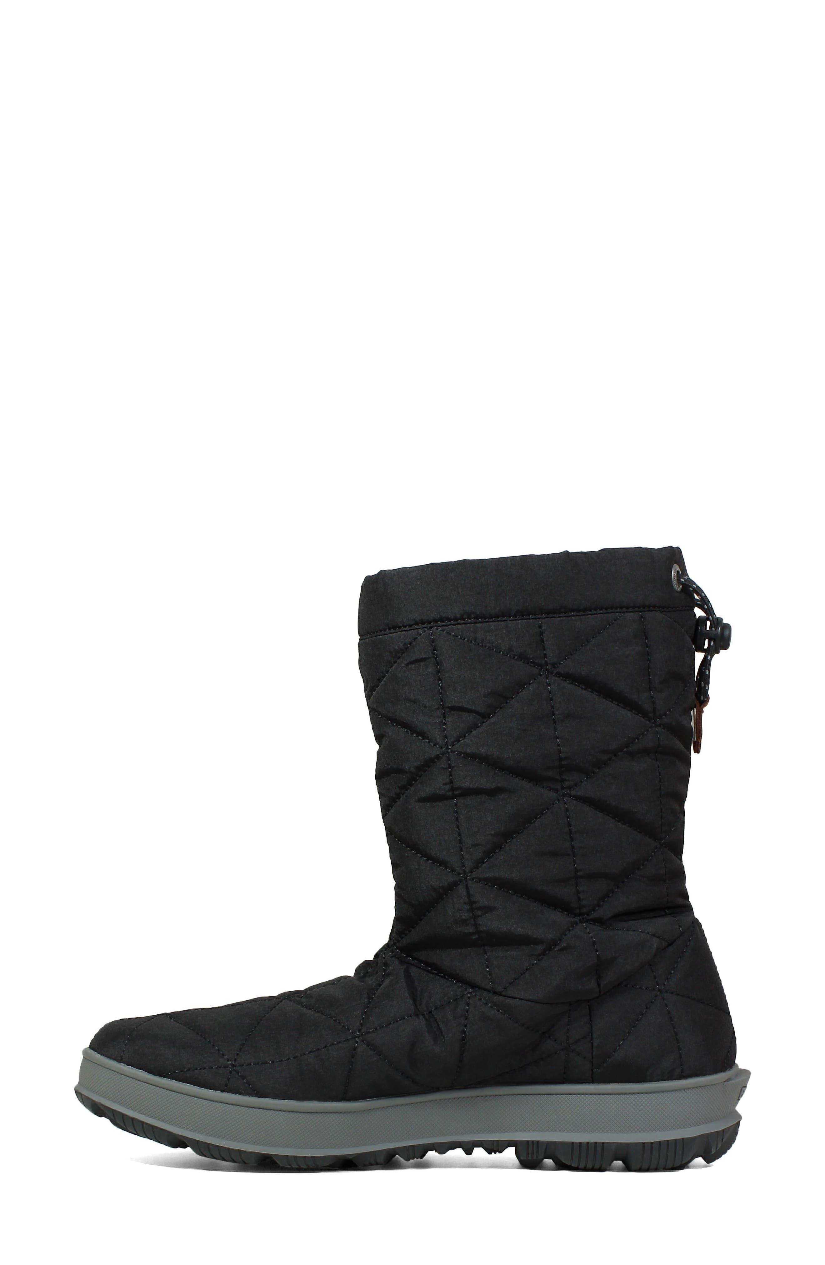 BOGS, Mid Snowday Waterproof Bootie, Alternate thumbnail 8, color, BLACK