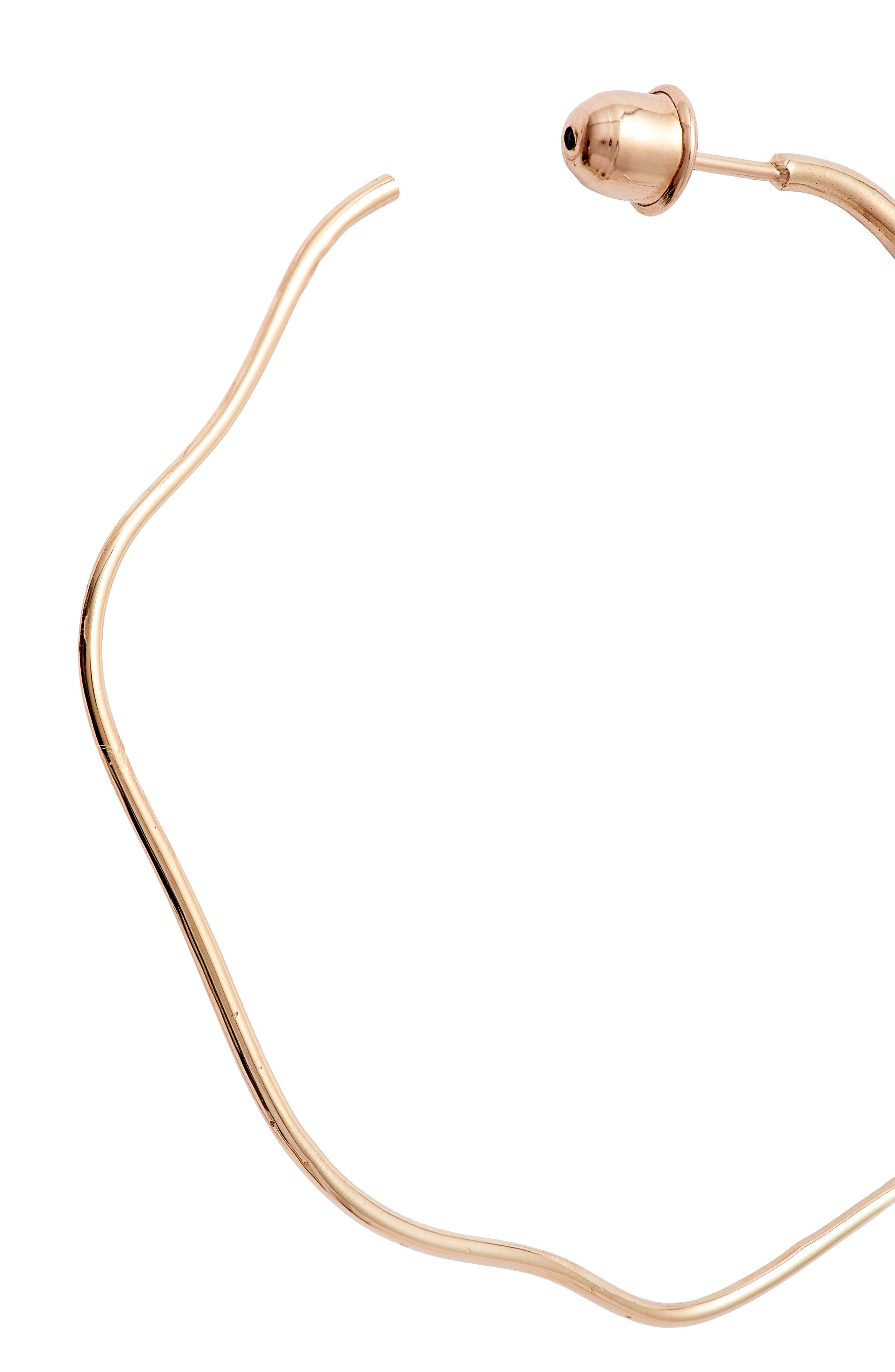 KISMET BY MILKA, Wave Hoop Earring, Alternate thumbnail 5, color, ROSE GOLD