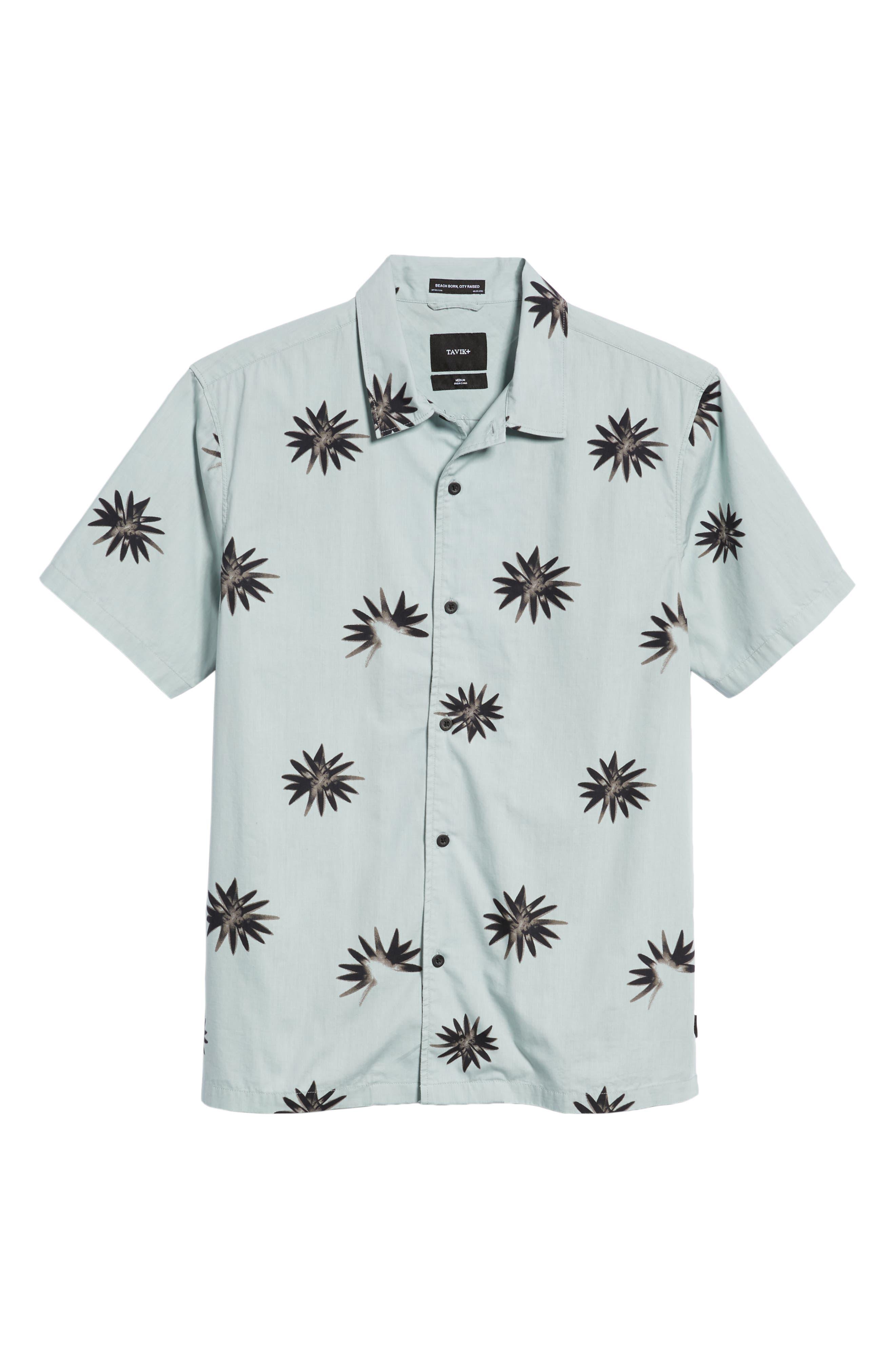 TAVIK, Villa Floral Woven Shirt, Alternate thumbnail 6, color, 083