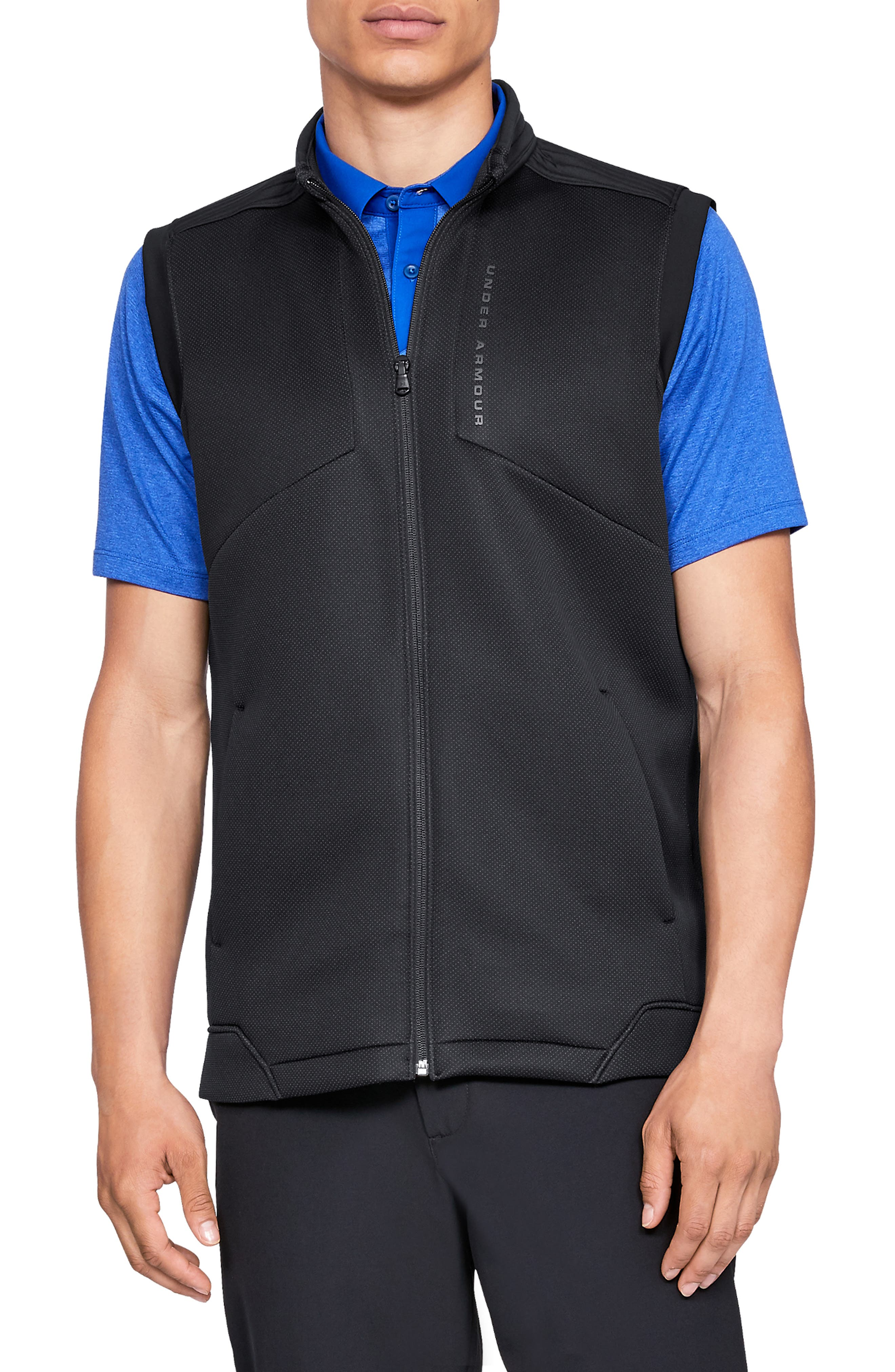 UNDER ARMOUR, Storm Daytona Vest, Main thumbnail 1, color, BLACK/ BLACK/ BLACK