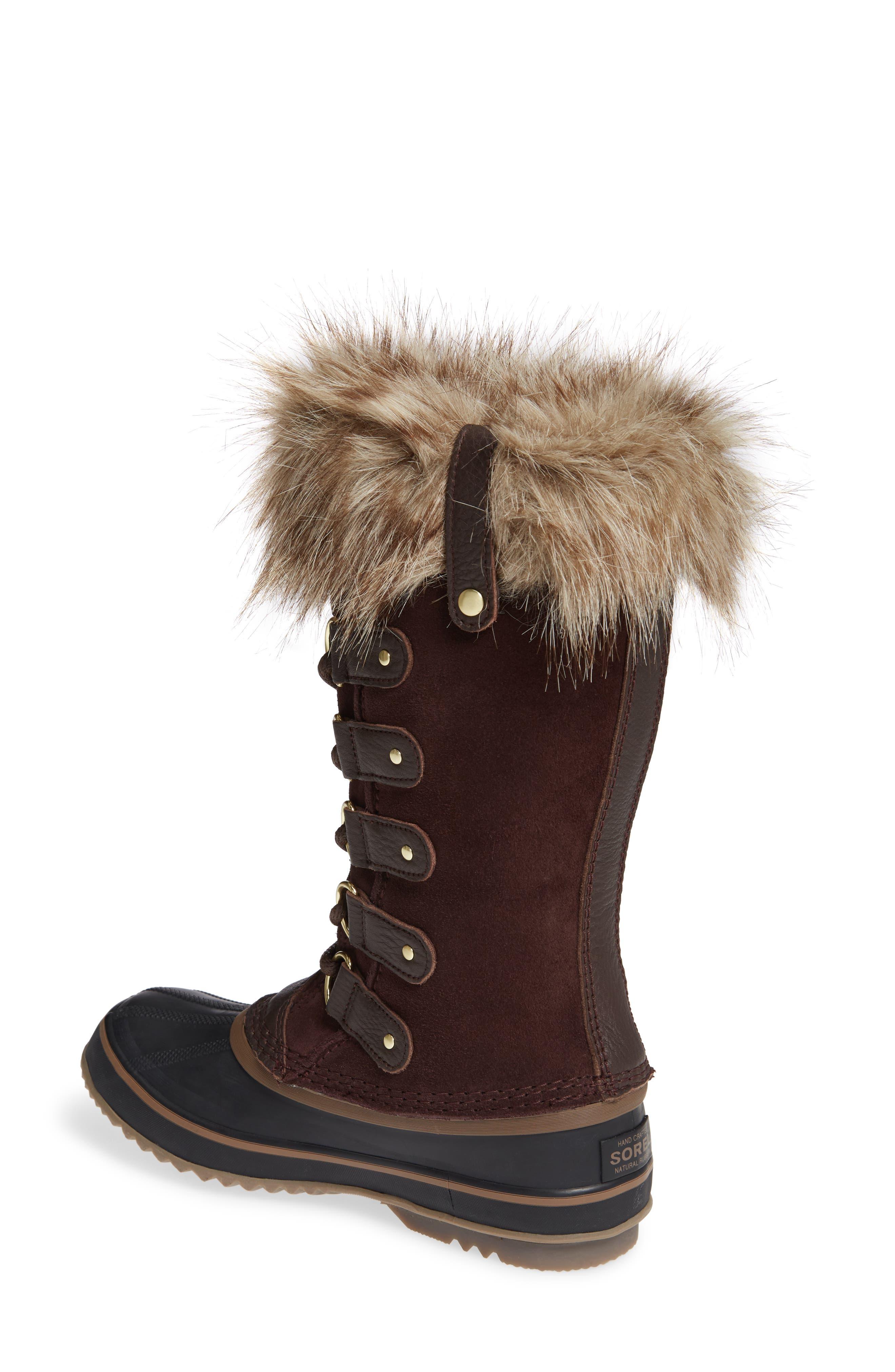SOREL, 'Joan of Arctic' Waterproof Snow Boot, Alternate thumbnail 2, color, 201