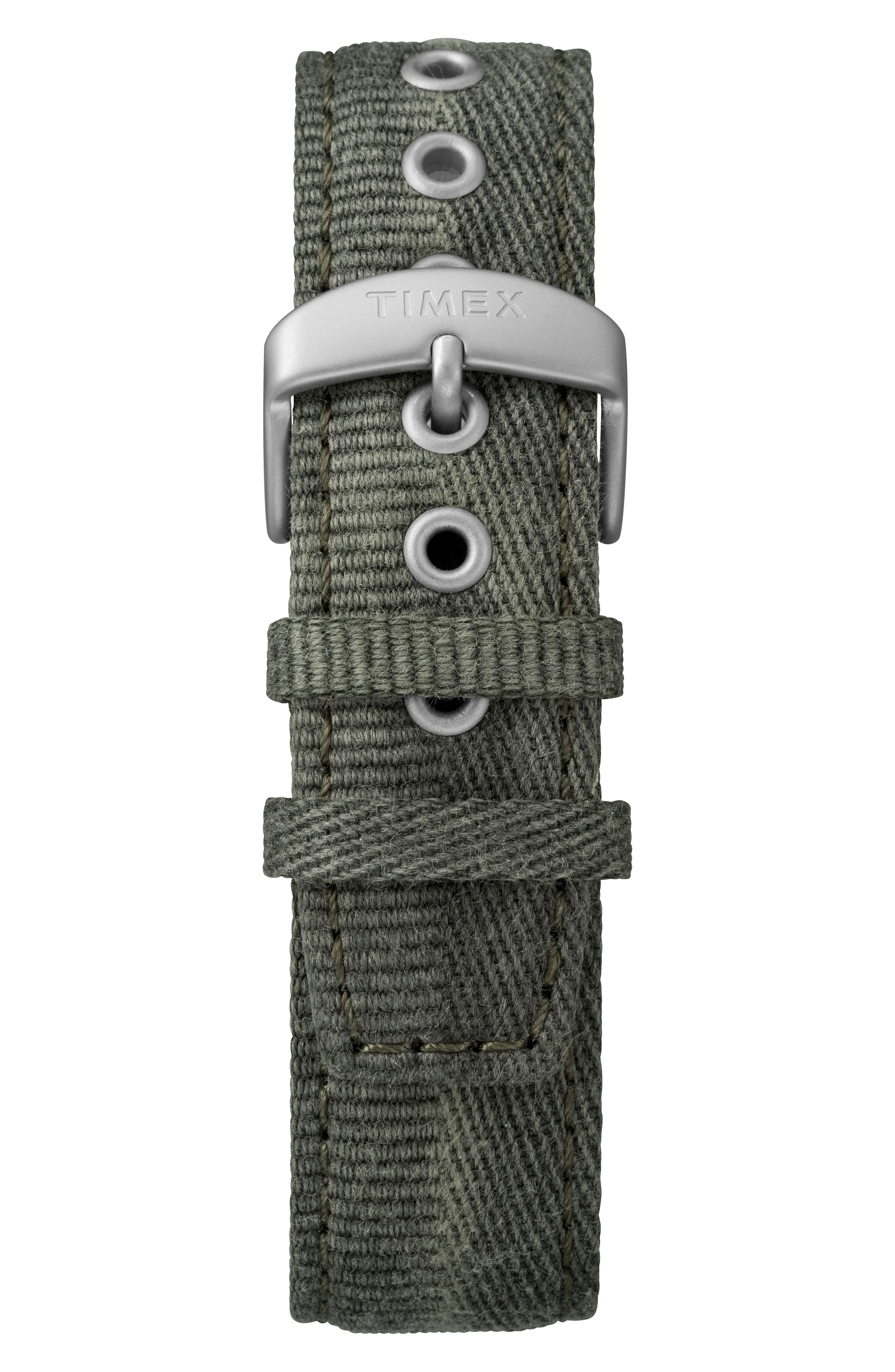 TIMEX<SUP>®</SUP>, MK1 Chronograph Fabric Strap Watch, 42mm, Alternate thumbnail 2, color, OLIVE/ SILVER