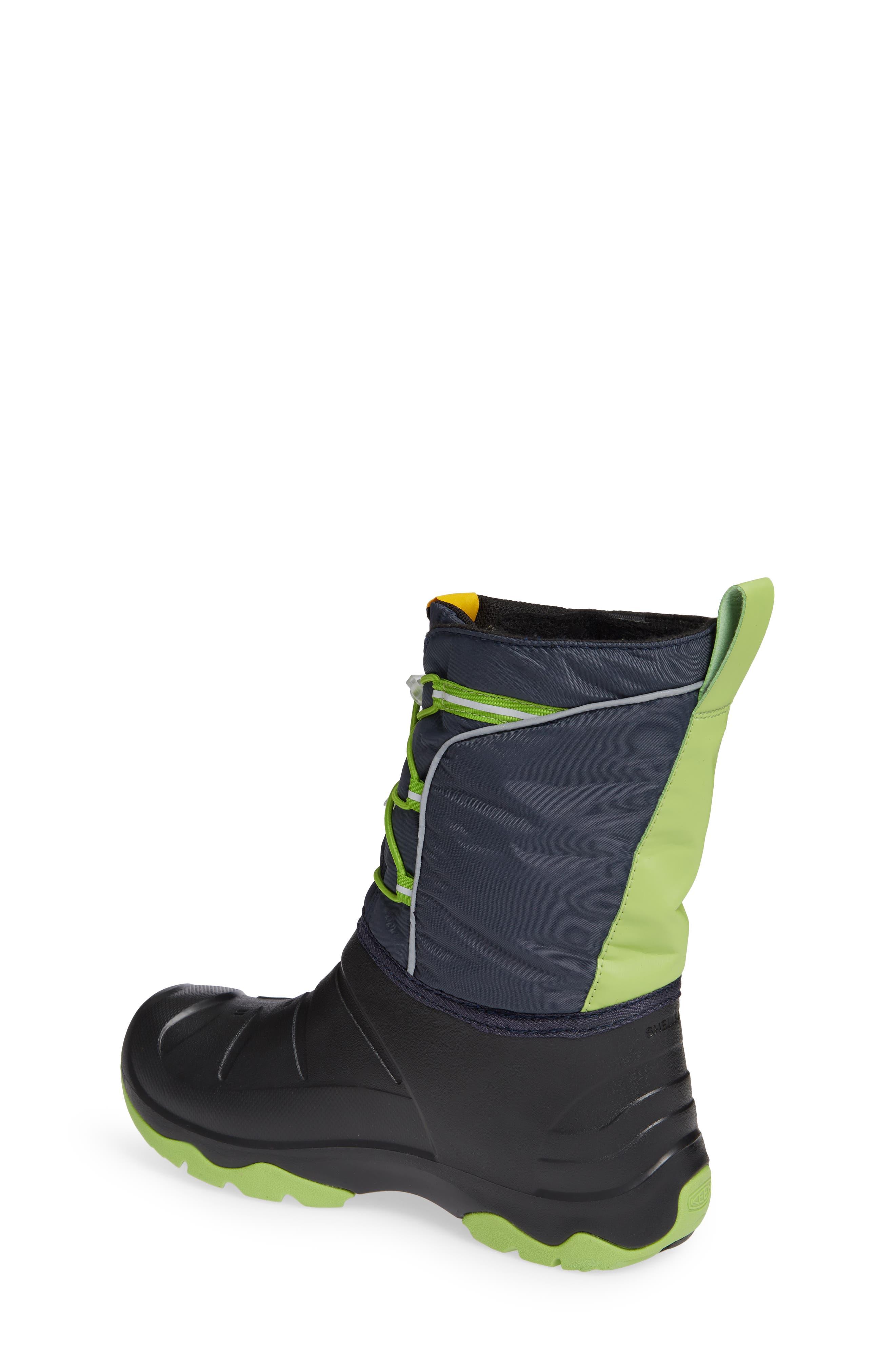 KEEN, Lumi Waterproof Boot, Alternate thumbnail 2, color, BLUE/ GREENERY