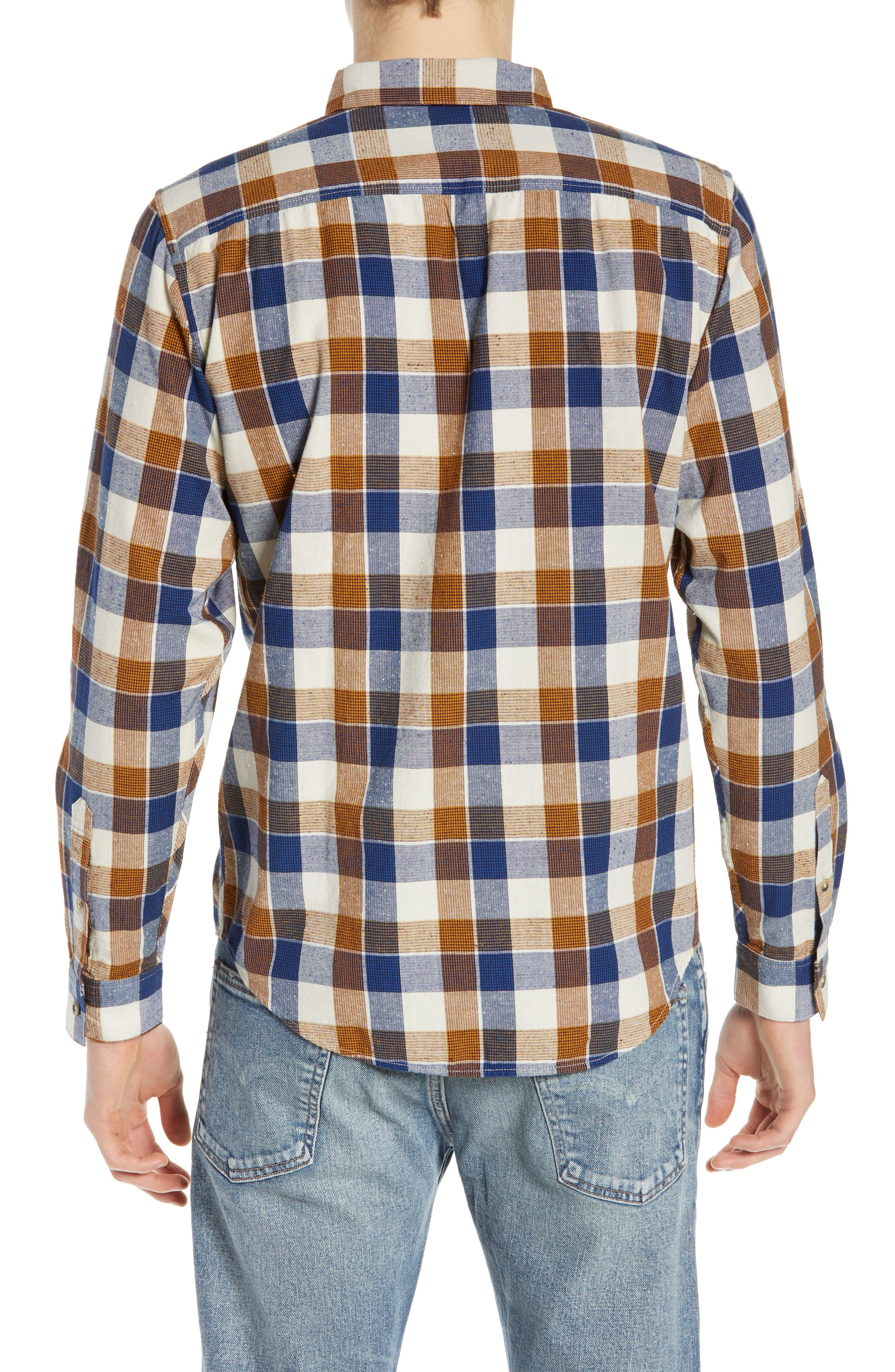 LEVI'S<SUP>®</SUP> MADE & CRAFTED<SUP>™</SUP>, Standard Plaid Sport Shirt, Alternate thumbnail 3, color, LEON PLAID MULTI