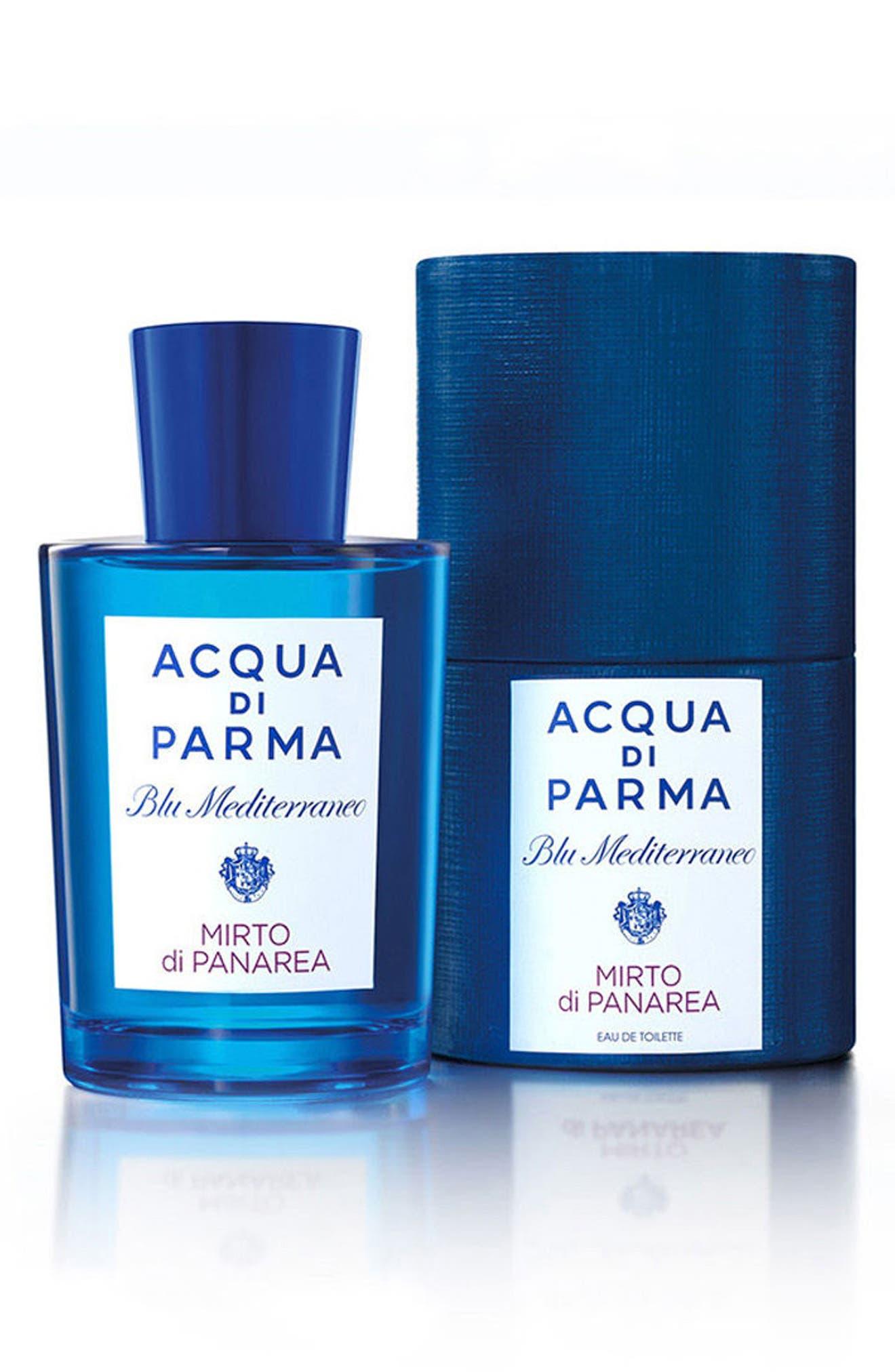 ACQUA DI PARMA, 'Blu Mediterraneo' Mirto di Panarea Eau de Toilette Spray, Alternate thumbnail 3, color, NO COLOR