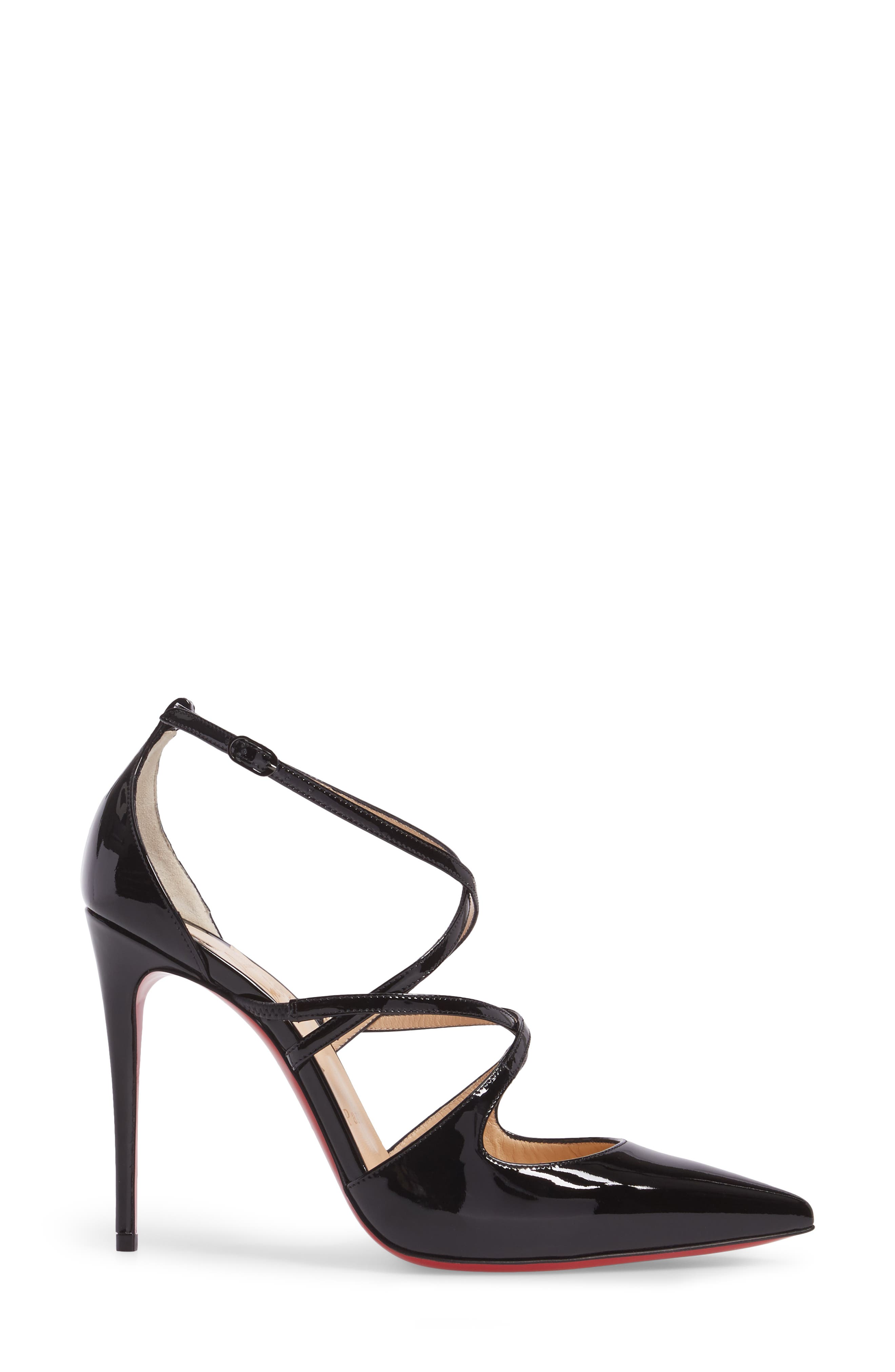 CHRISTIAN LOUBOUTIN, Crossfliketa Pump, Alternate thumbnail 3, color, 001