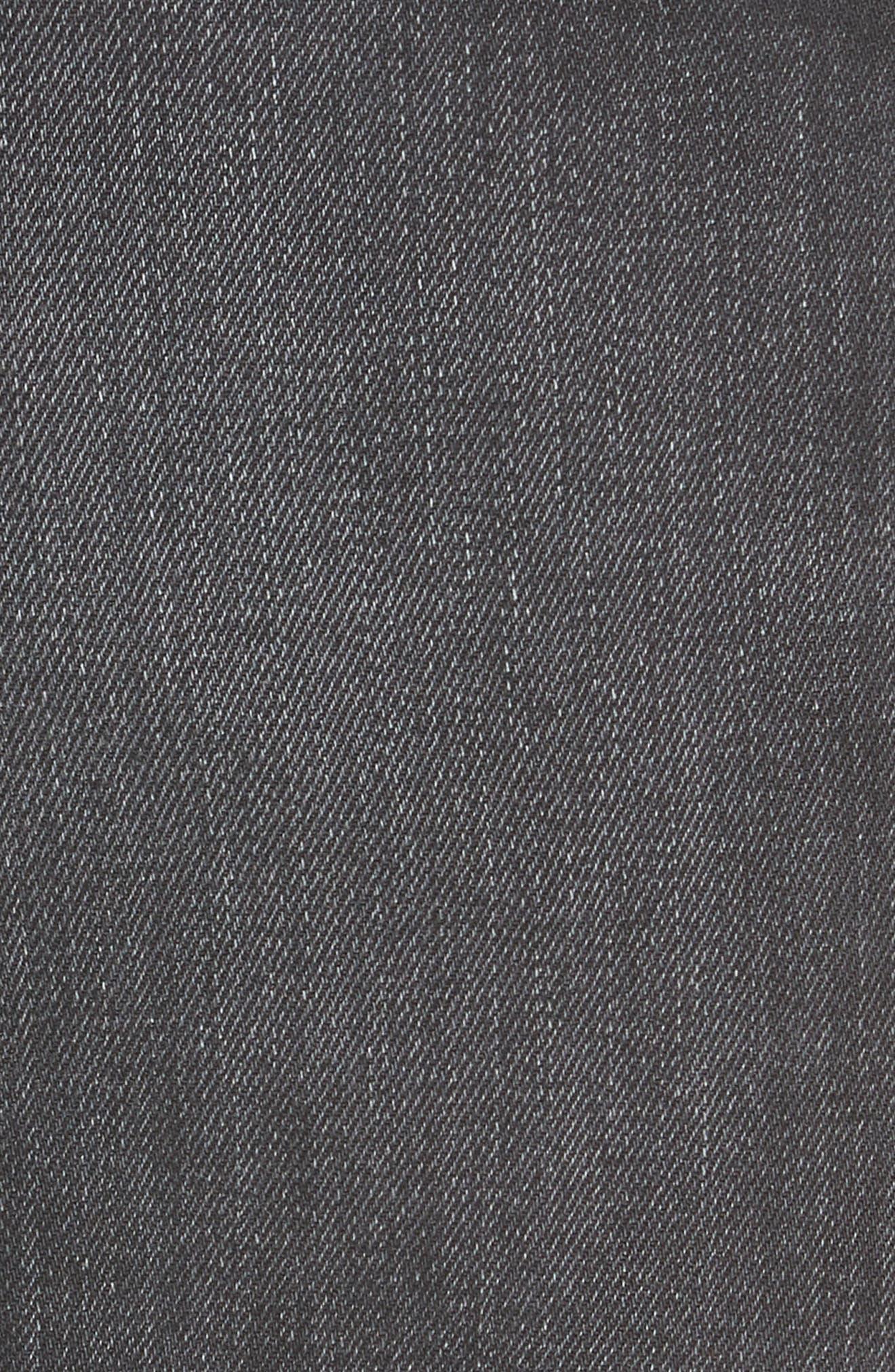 NILI LOTAN, Wade Lace-Up Wide Leg Jeans, Alternate thumbnail 6, color, VINTAGE BLACK