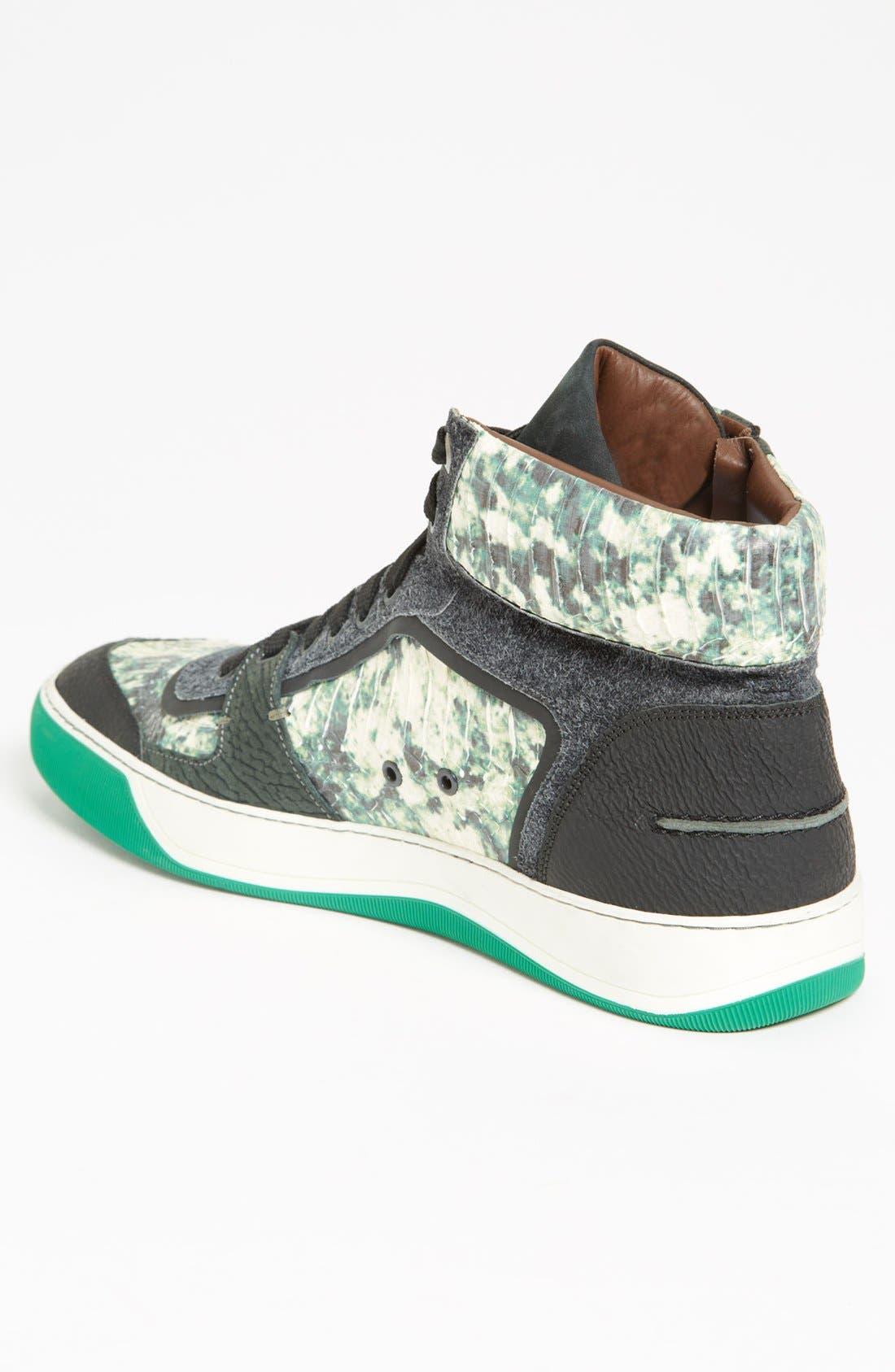 LANVIN, High Top Sneaker, Alternate thumbnail 3, color, 300