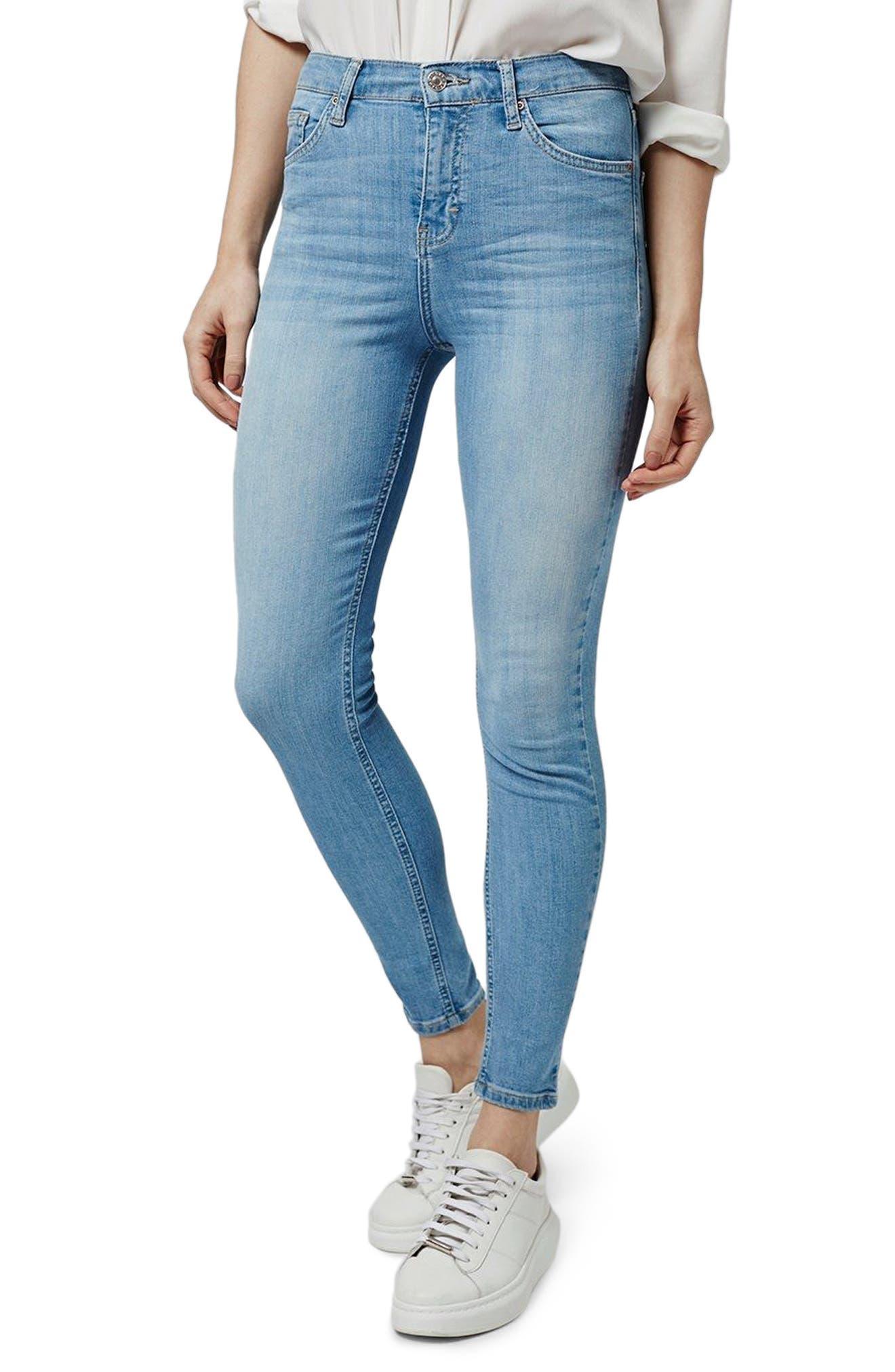 TOPSHOP, Moto Jamie High Waist Skinny Jeans, Main thumbnail 1, color, 450