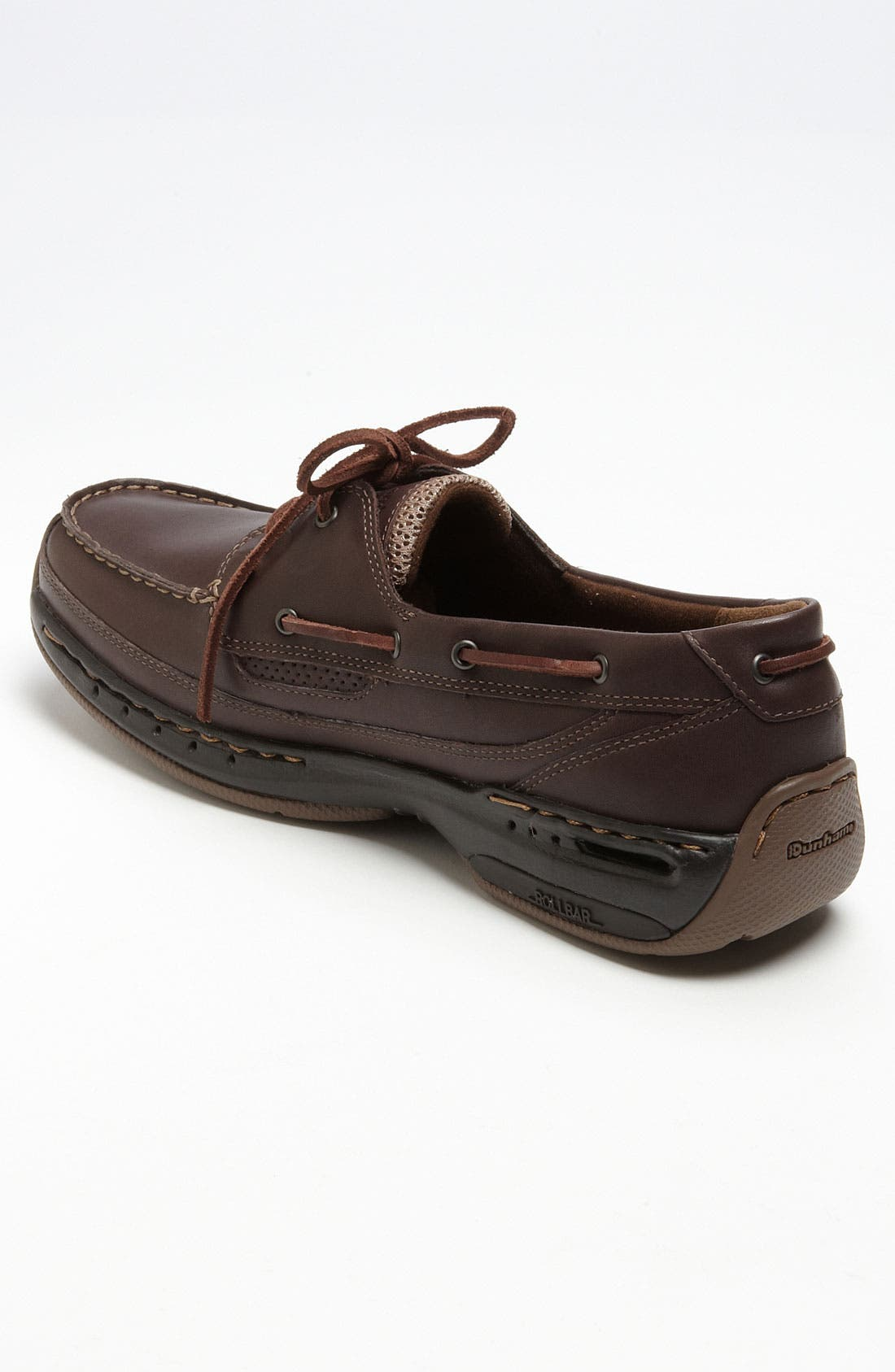 DUNHAM, 'Shoreline' Boat Shoe, Alternate thumbnail 2, color, BROWN LEATHER