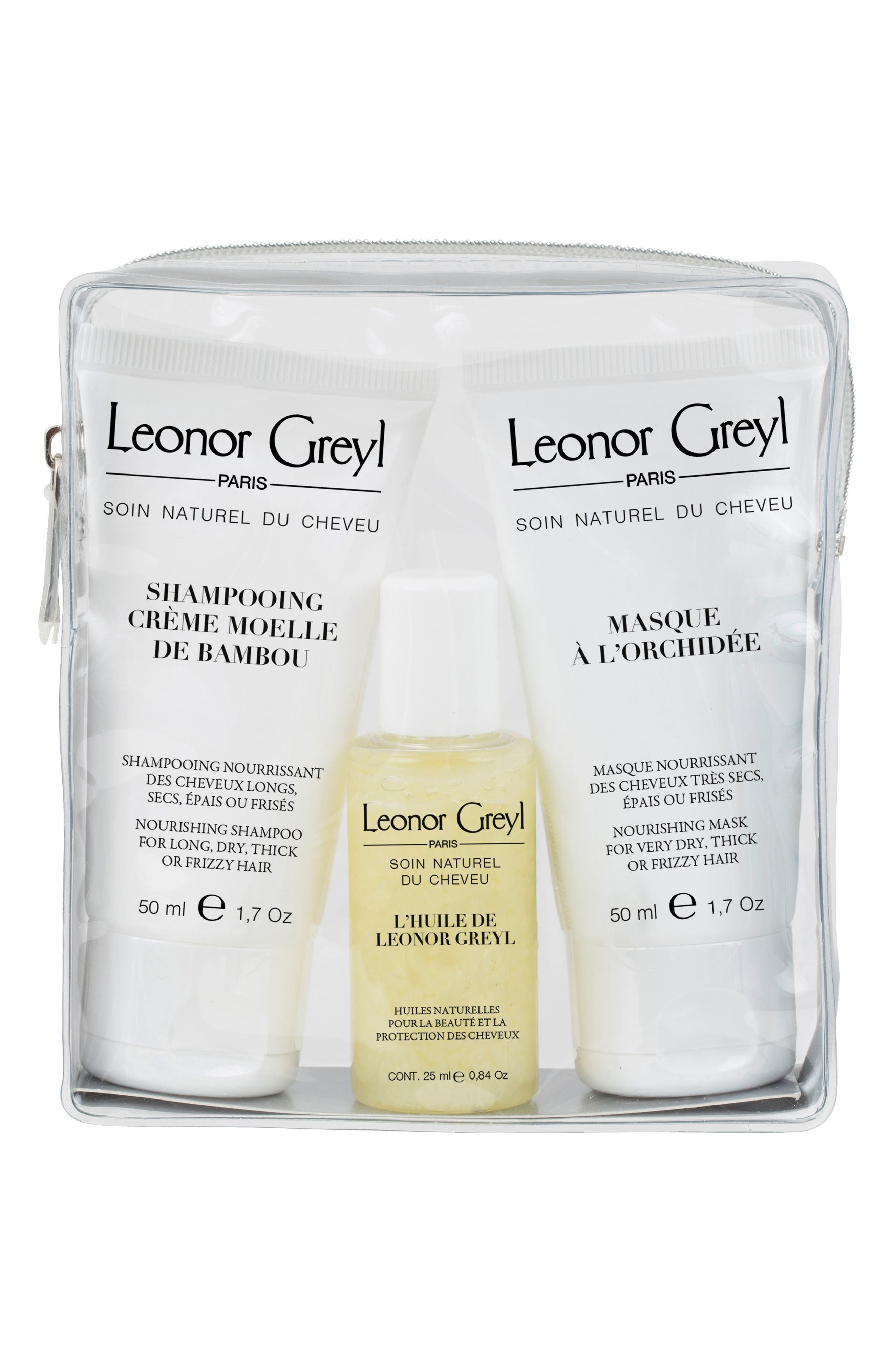 LEONOR GREYL PARIS Luxury Travel Kit for Very Dry, Thick or Curly Hair, Main, color, NO COLOR