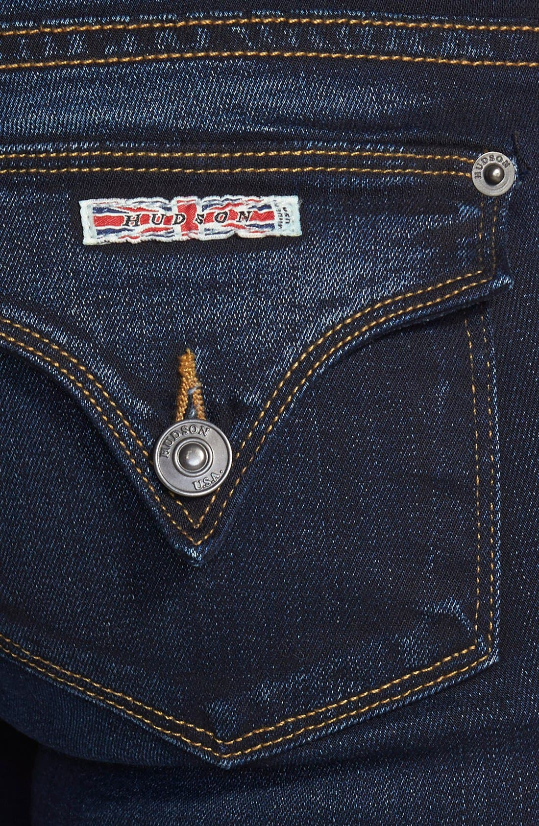 HUDSON JEANS, 'Elysian - Beth' Baby Bootcut Jeans, Alternate thumbnail 3, color, ORACLE